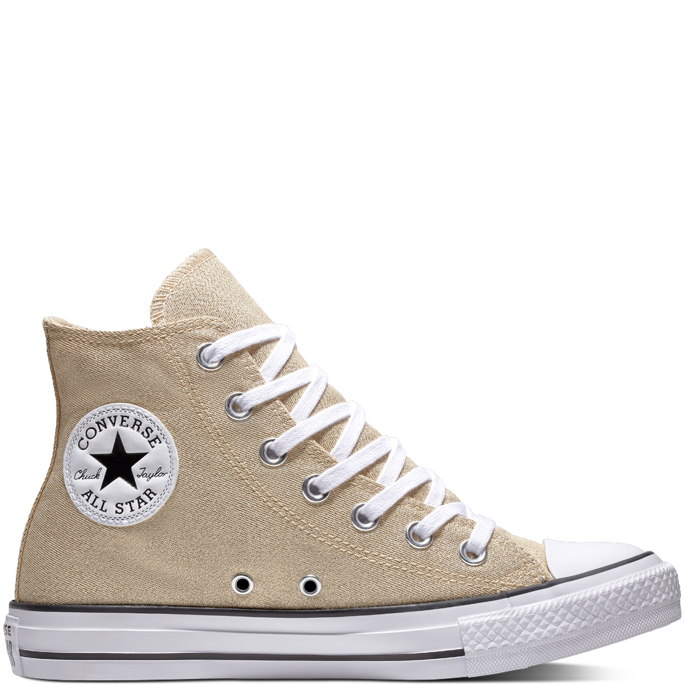 Converse zlaté tenisky Chuck Taylor All Star Hi Light Twine White Black - 37 1703eaec1f0