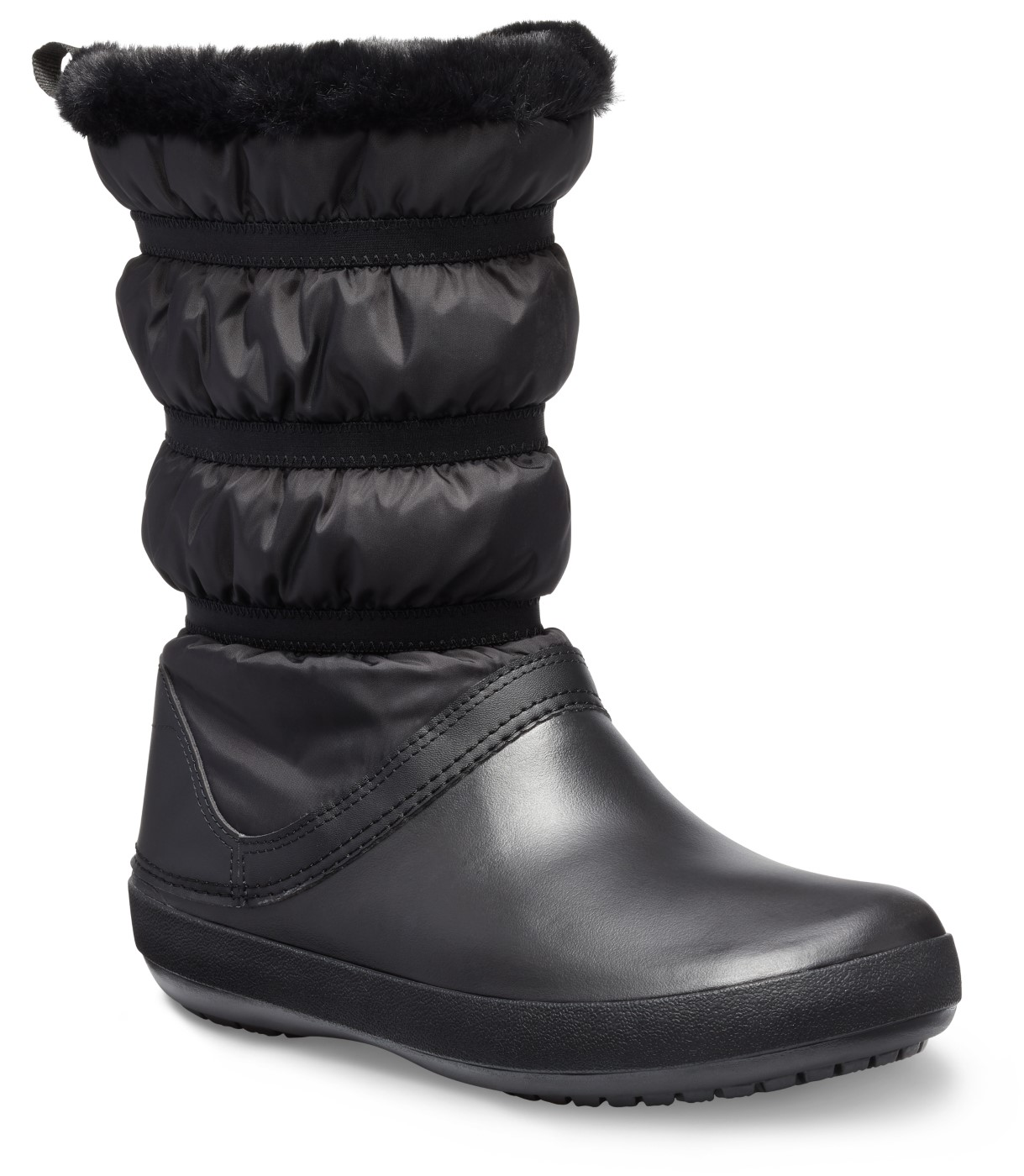 Crocs čierne snehule Crocband Winter Boot Black - 39/40