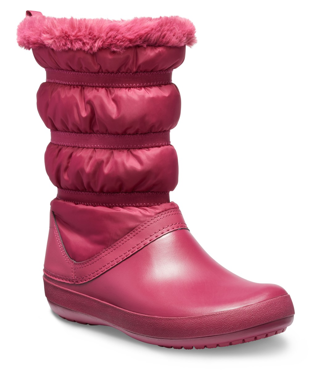 Crocs vínové snehule Crocband Winter Boot Pomegranate - 37/38