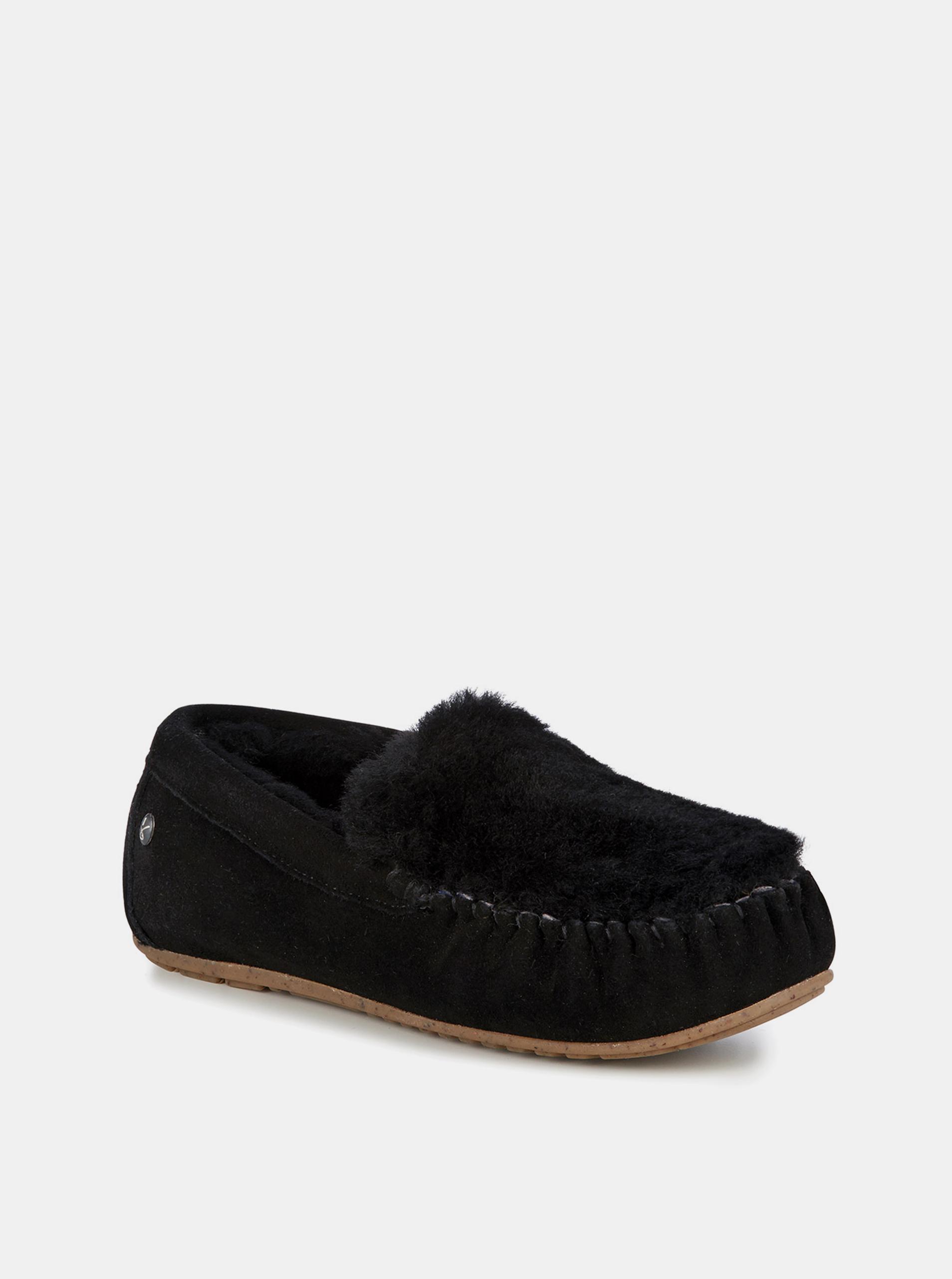 2c4896bf74 Emu čierne jesenné mokasíny Cairns Reerse Fur Black Noir - Dámske ...