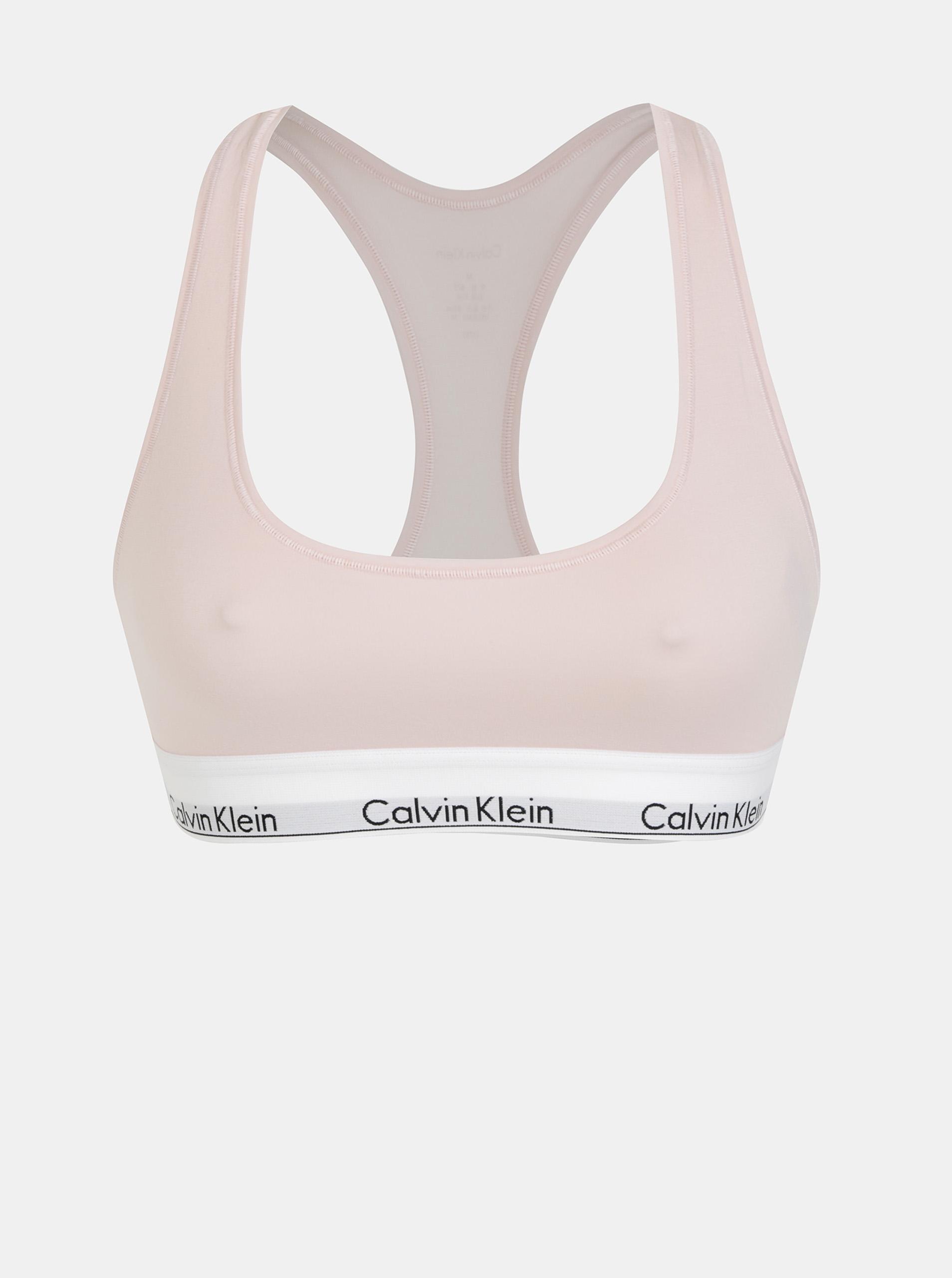 Calvin Klein púdrová športová podprsenka Bralette