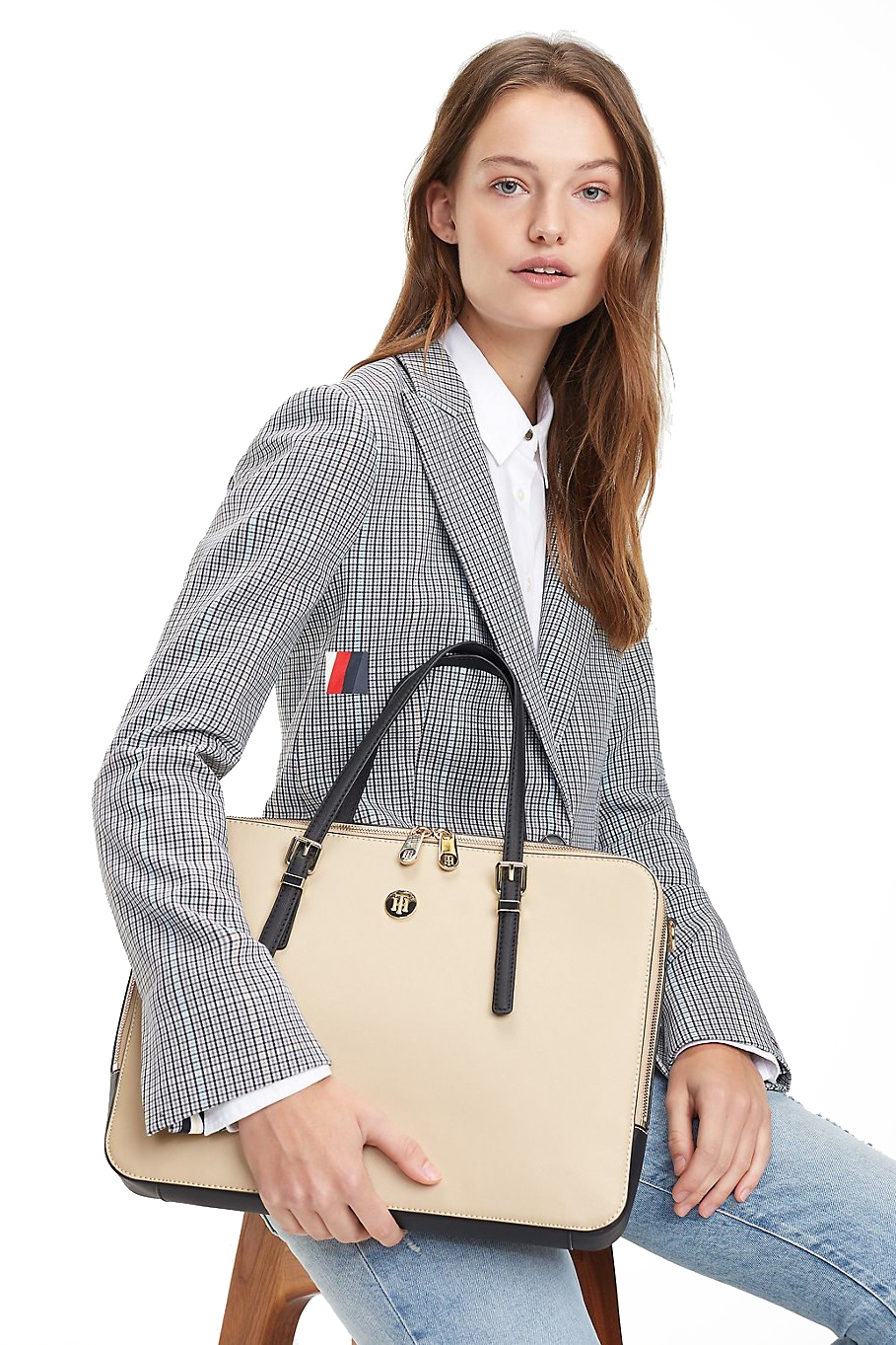 Tommy Hilfiger béžová taška na notebook Honey Computer Bag