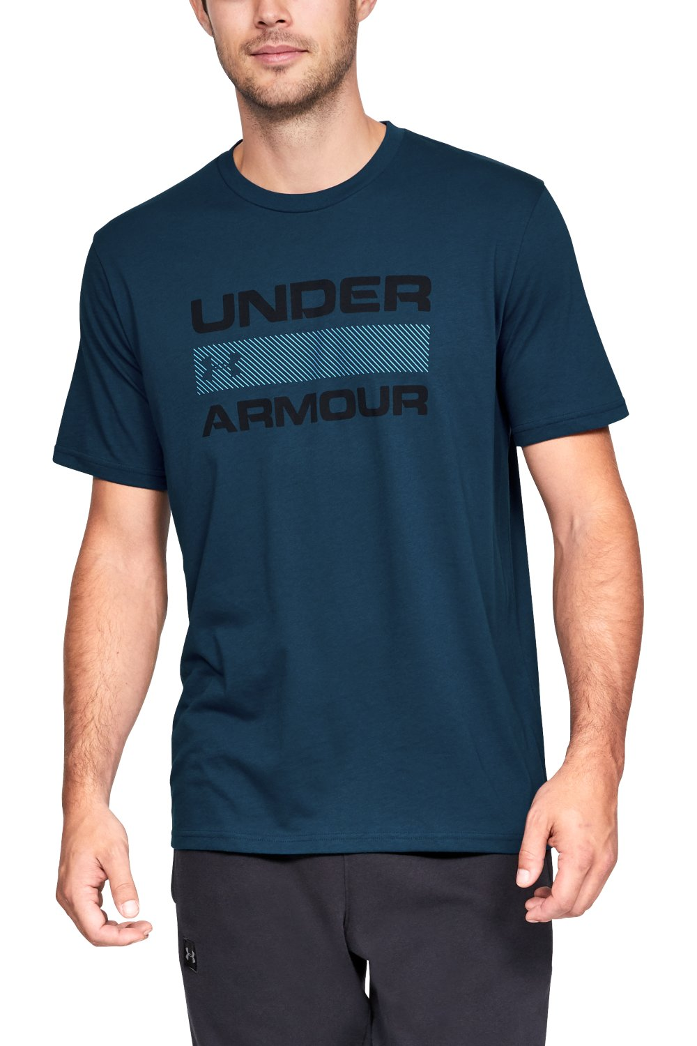 Under Armour modré pánske tričko Team Issue Wordmark Ss