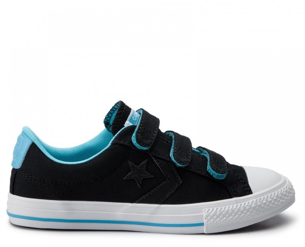 Converse čierne tenisky One Star Player Ox Black/Gnarly Blue - 35