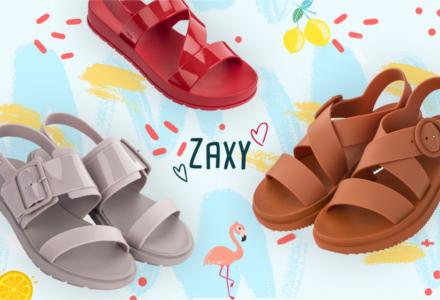 Plastové topánky Zaxy - nová kolekcia jar/leto 2019
