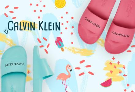 Slide šľapky Calvin Klein