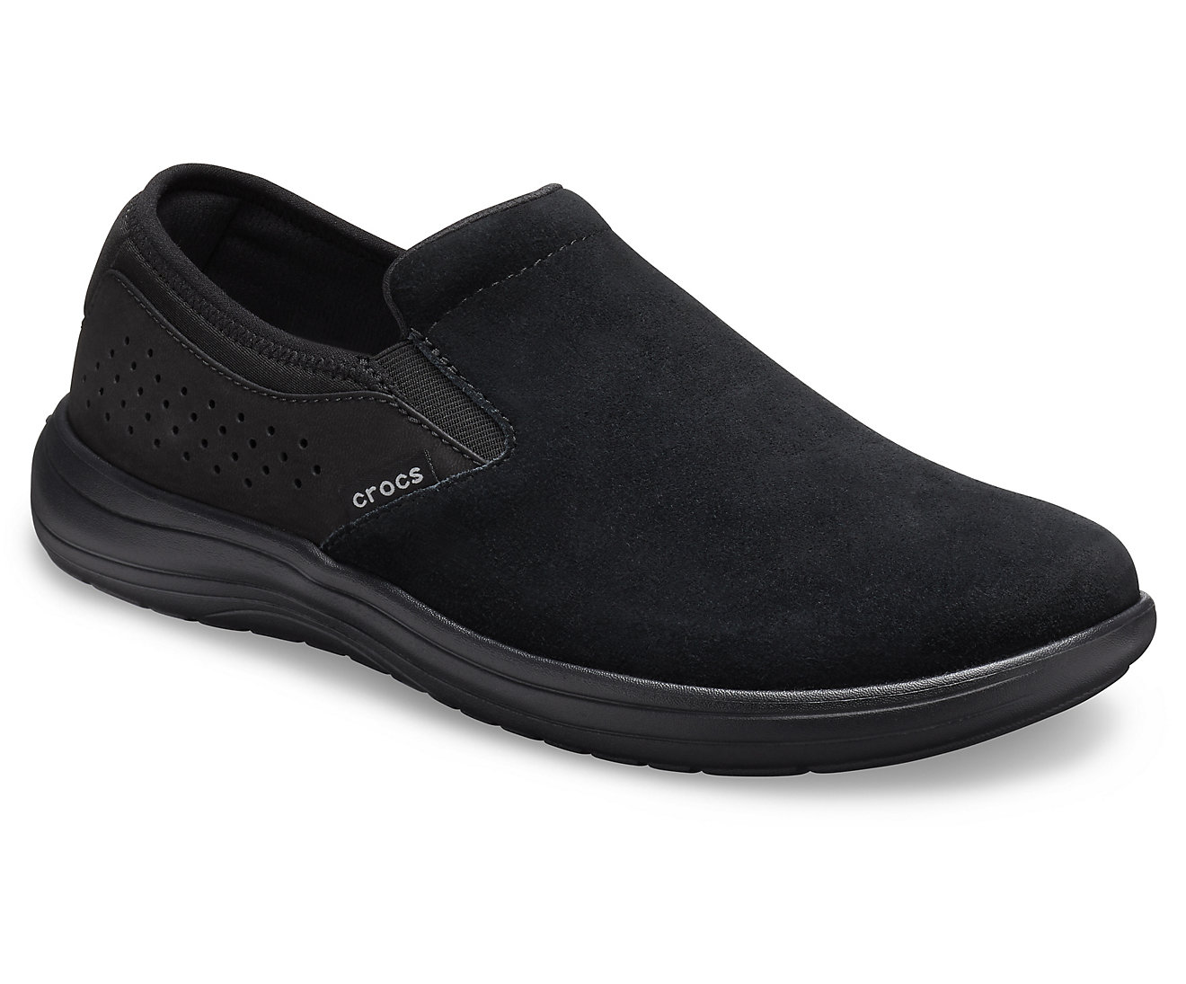 Crocs čierne pánske slip on Crocs Reviva Suede SlipOn Black