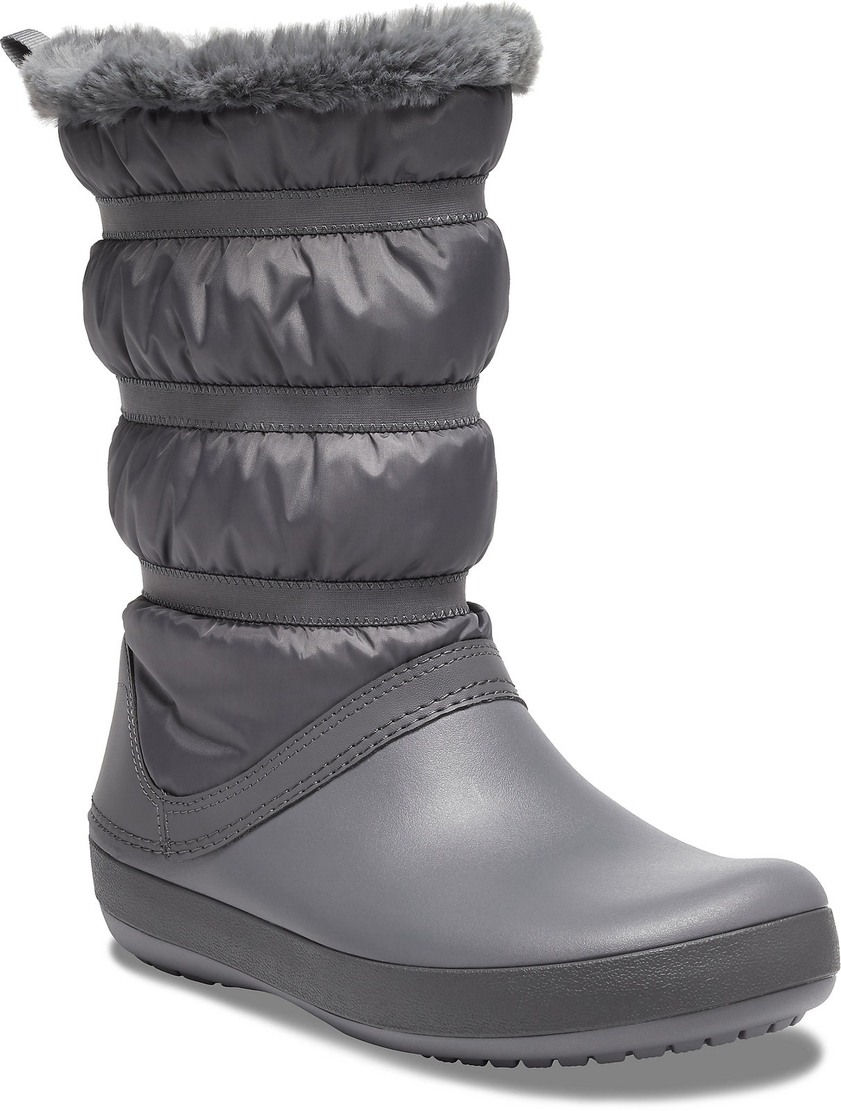 Crocs sivé snehule Crocband Winter Boot Charcoal - 37/38