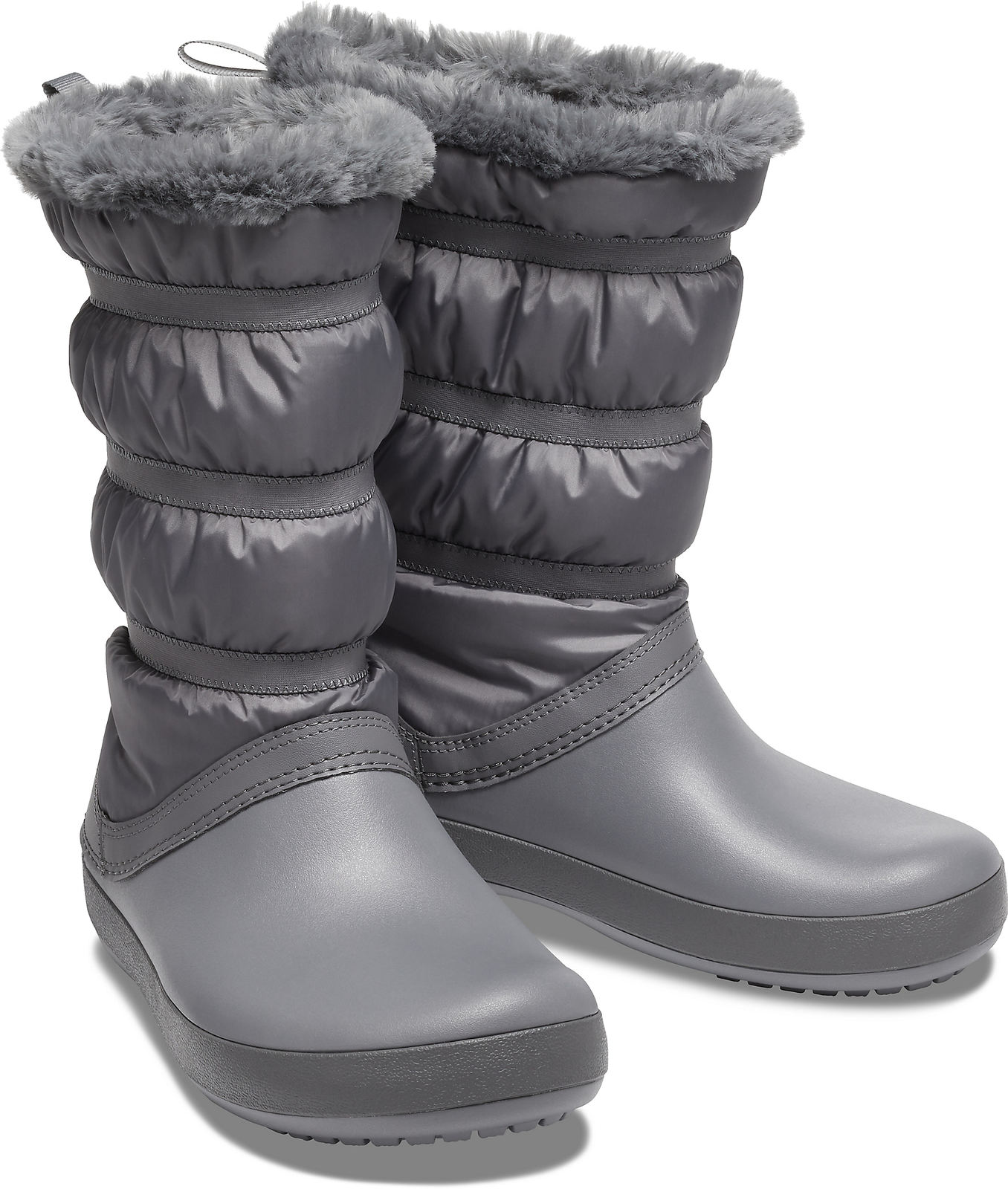 Crocs sivé snehule Crocband Winter Boot Charcoal