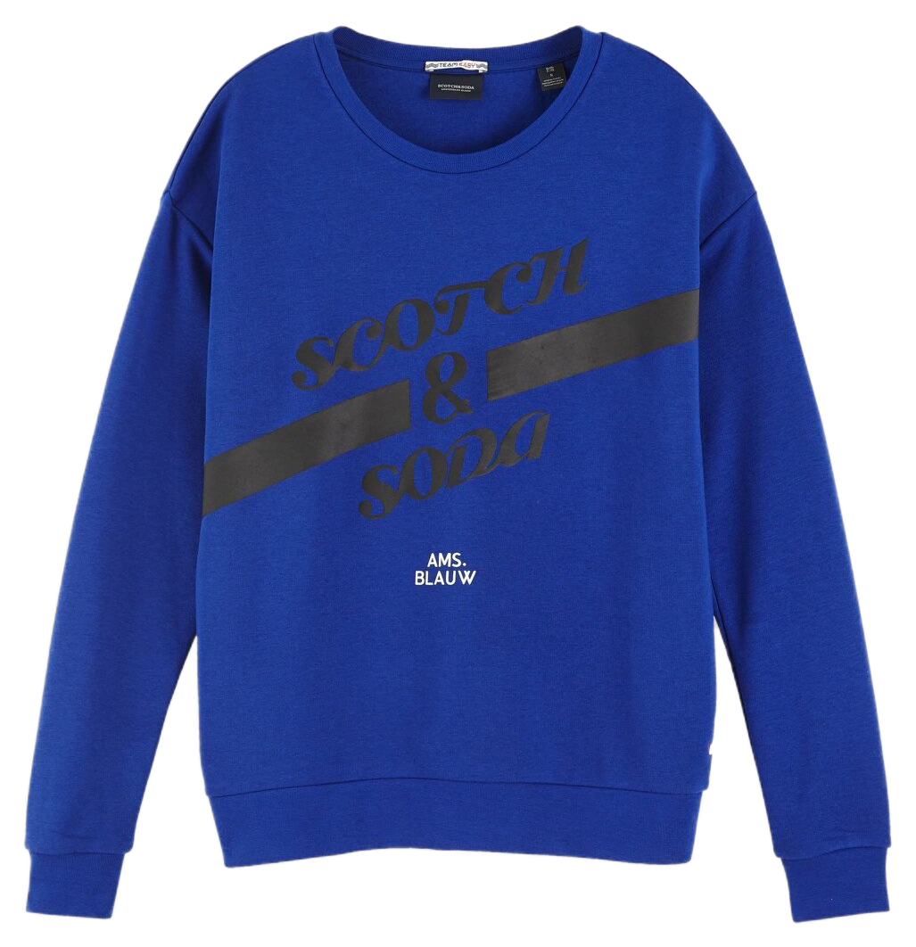 Scotch & Soda modré mikina Artwork Ams. Blauw