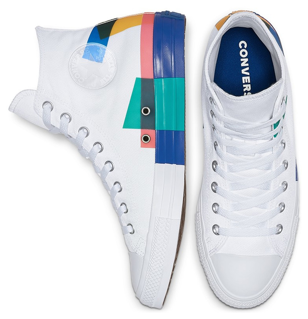 Converse biele unisex tenisky Chuck Taylor All Star White/Blue/Enamel Red