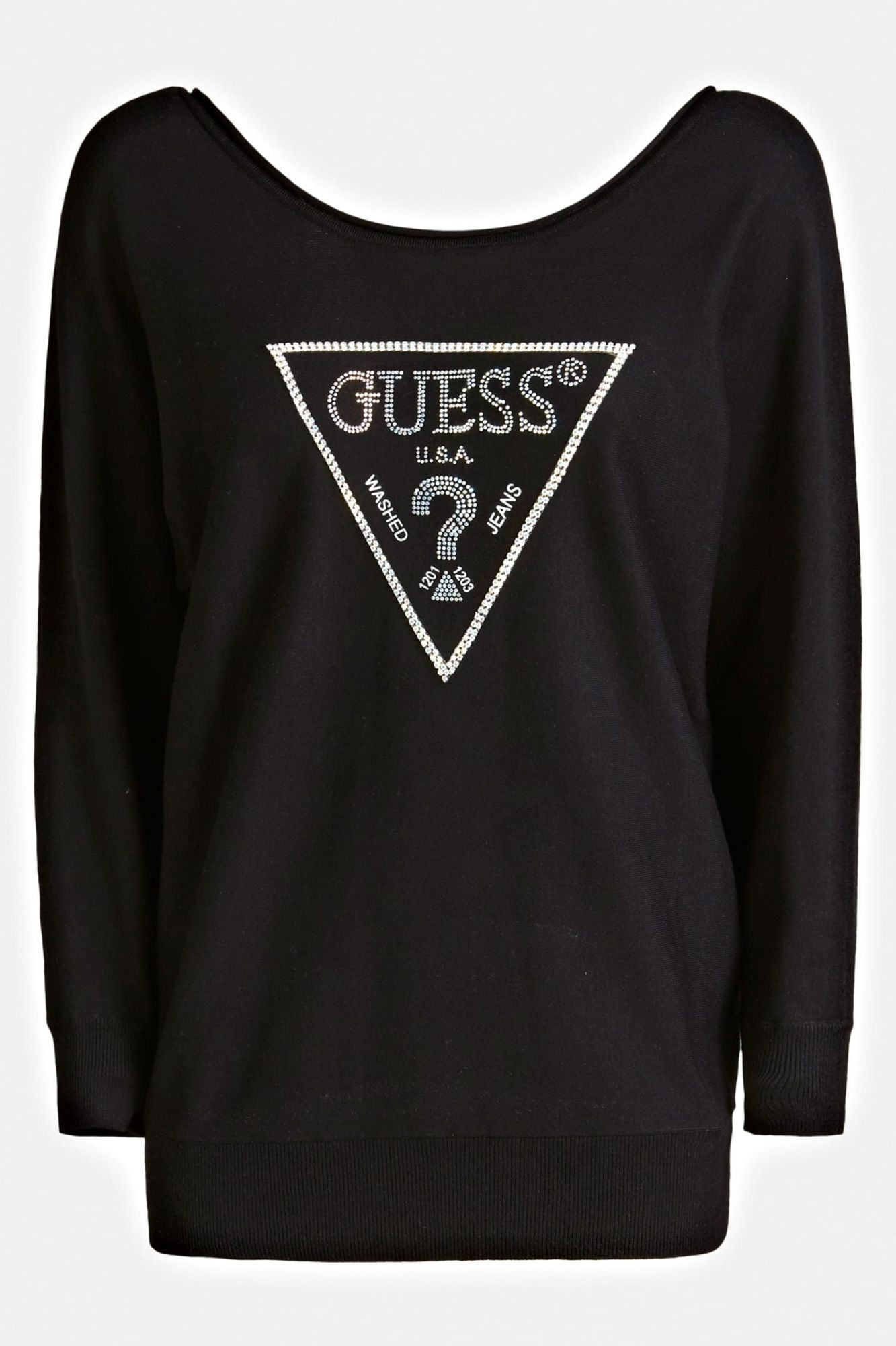 Guess čierny sveter Jewel Sweater