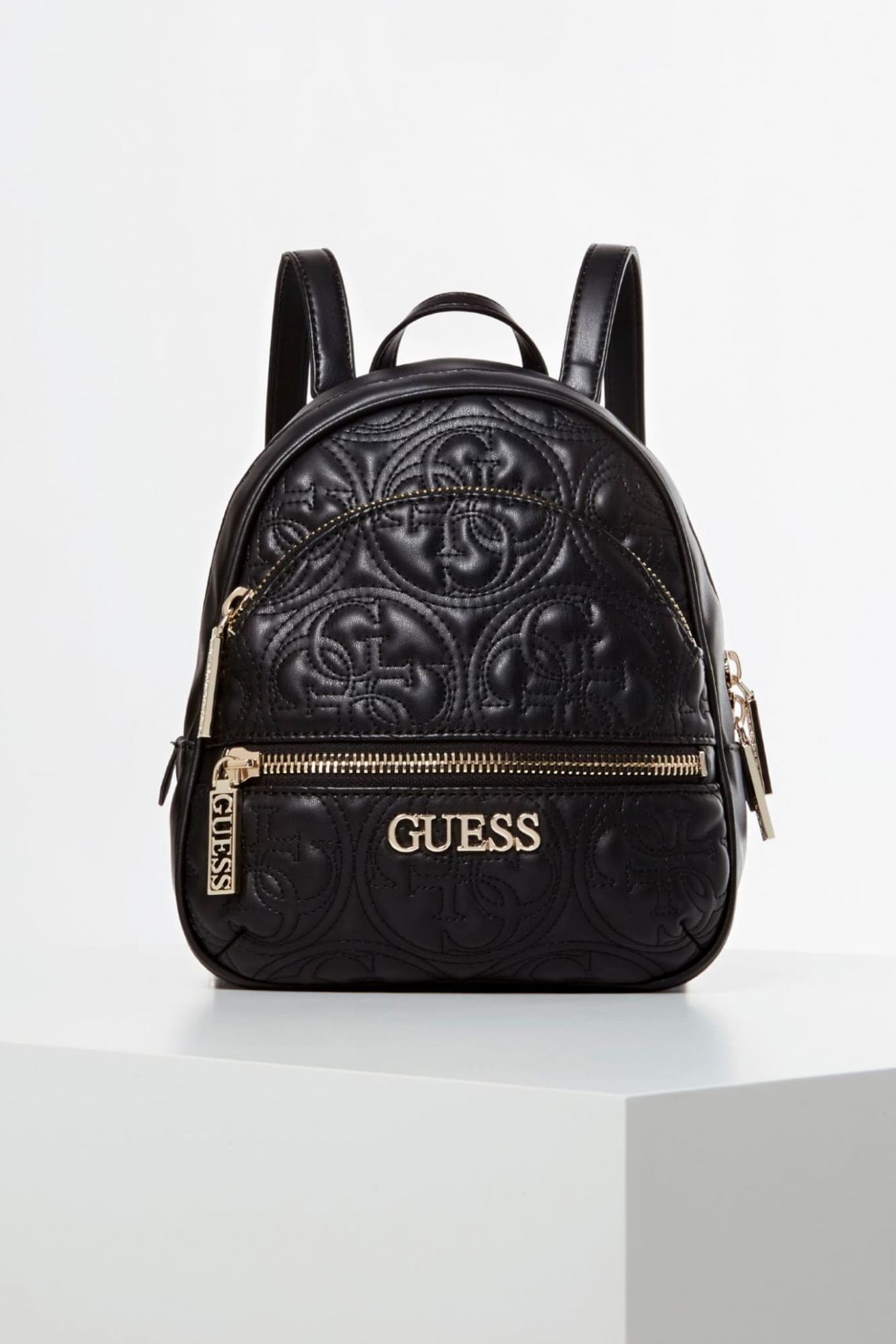 Guess čierny ruksak Manhattan Embroidered logo