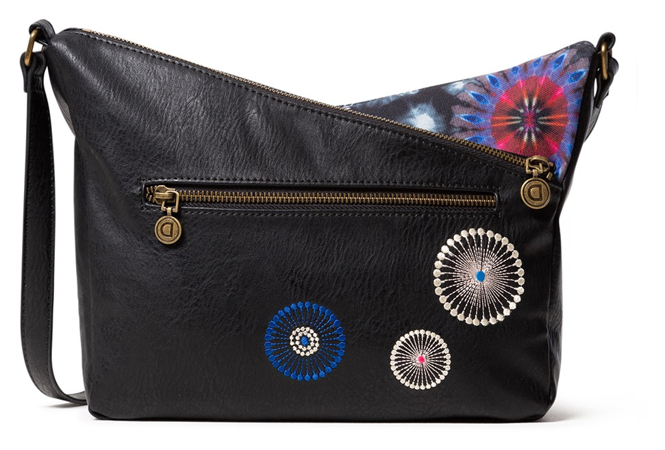 Desigual čierna crossbody kabelka Bols Black Paper Harry Mini