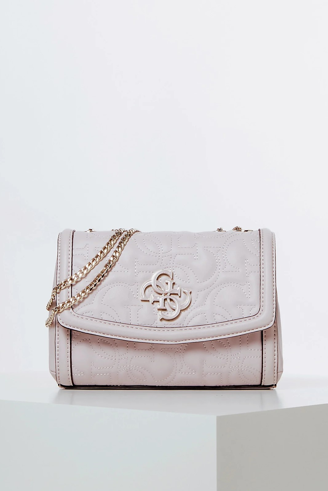 Guess púdrová crossbody kabelka New Wave Quilted
