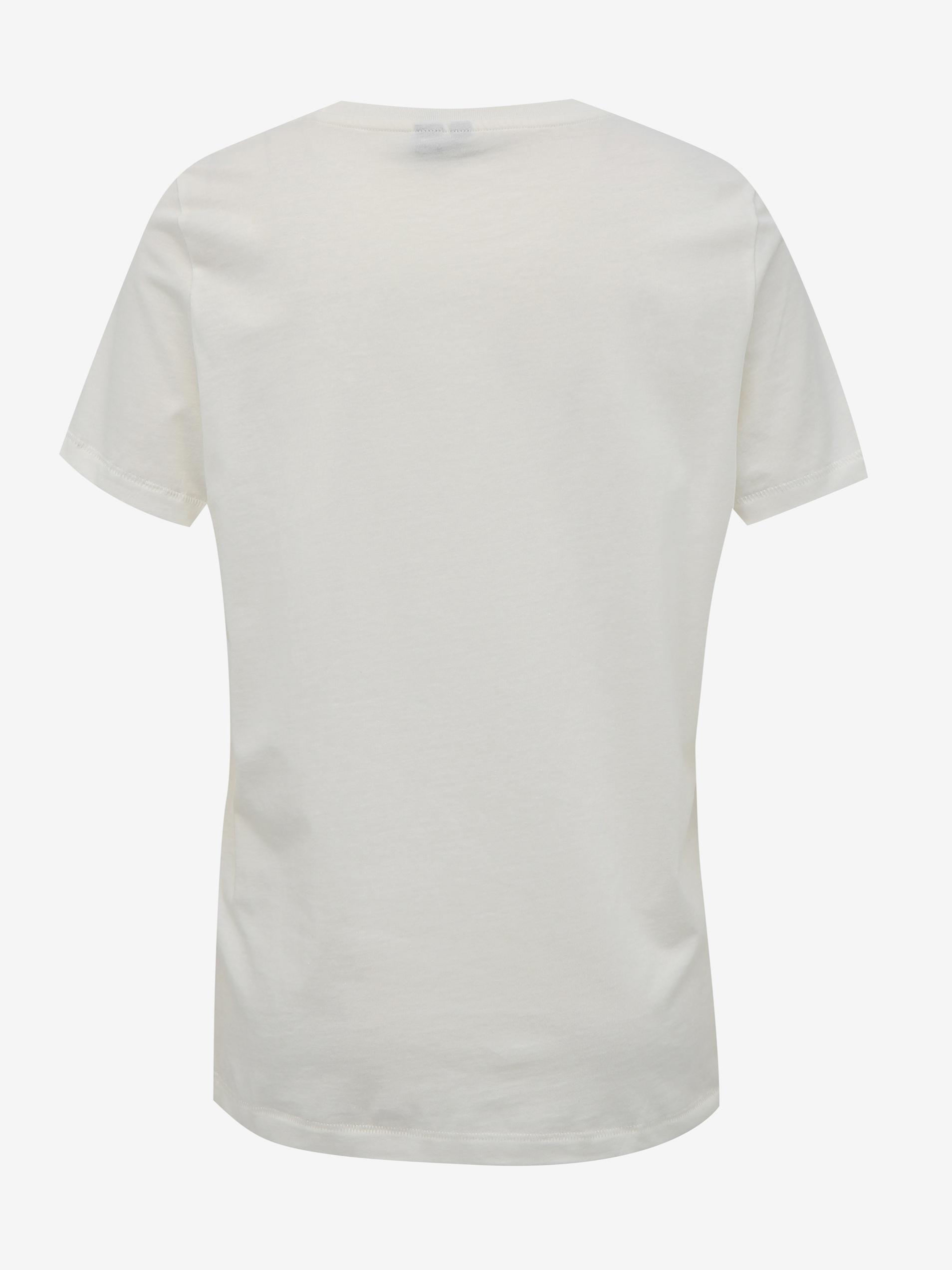 Vero Moda biele tričko Desert s potlačou