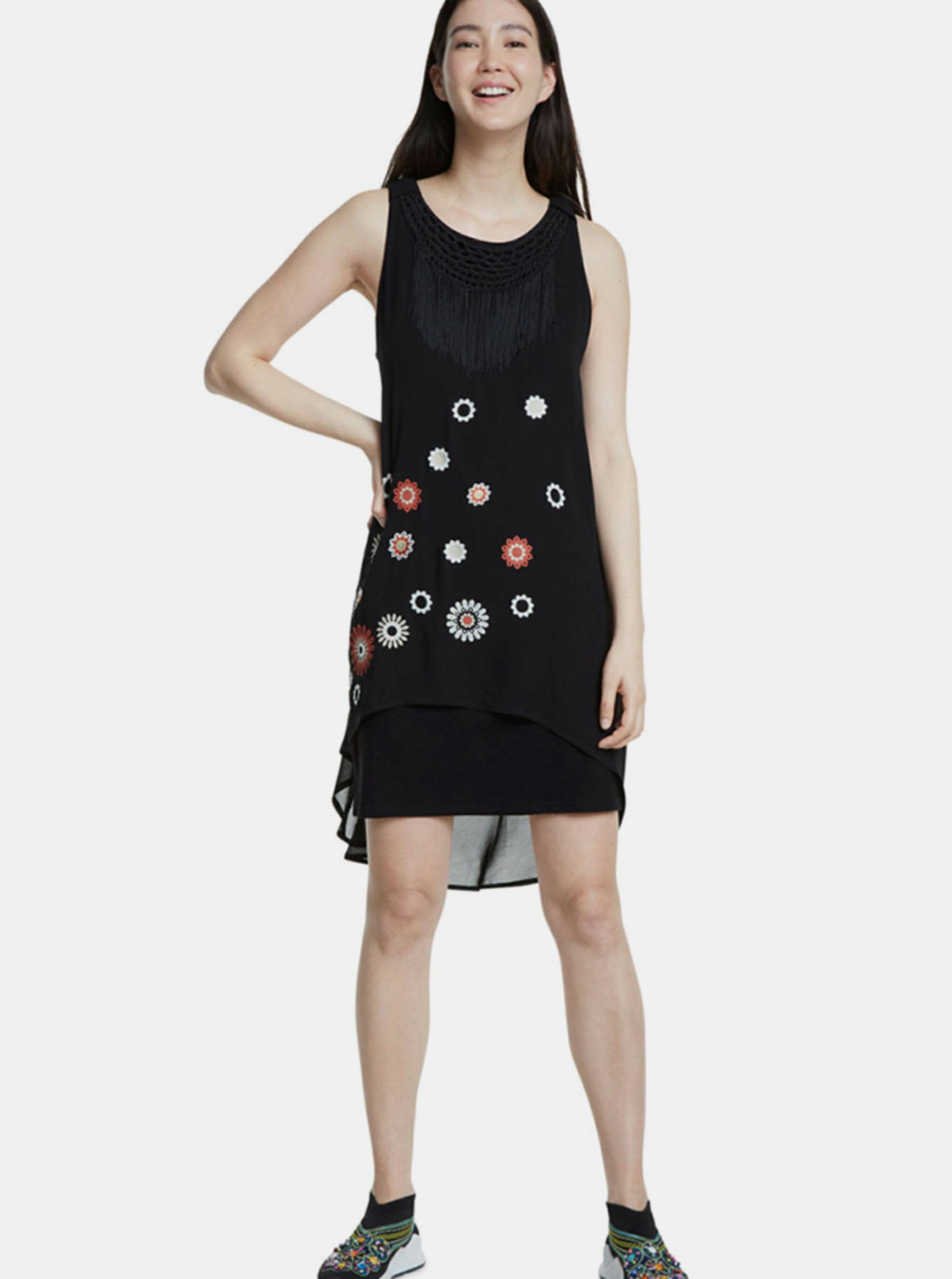 Čierne šaty Desigual - 46