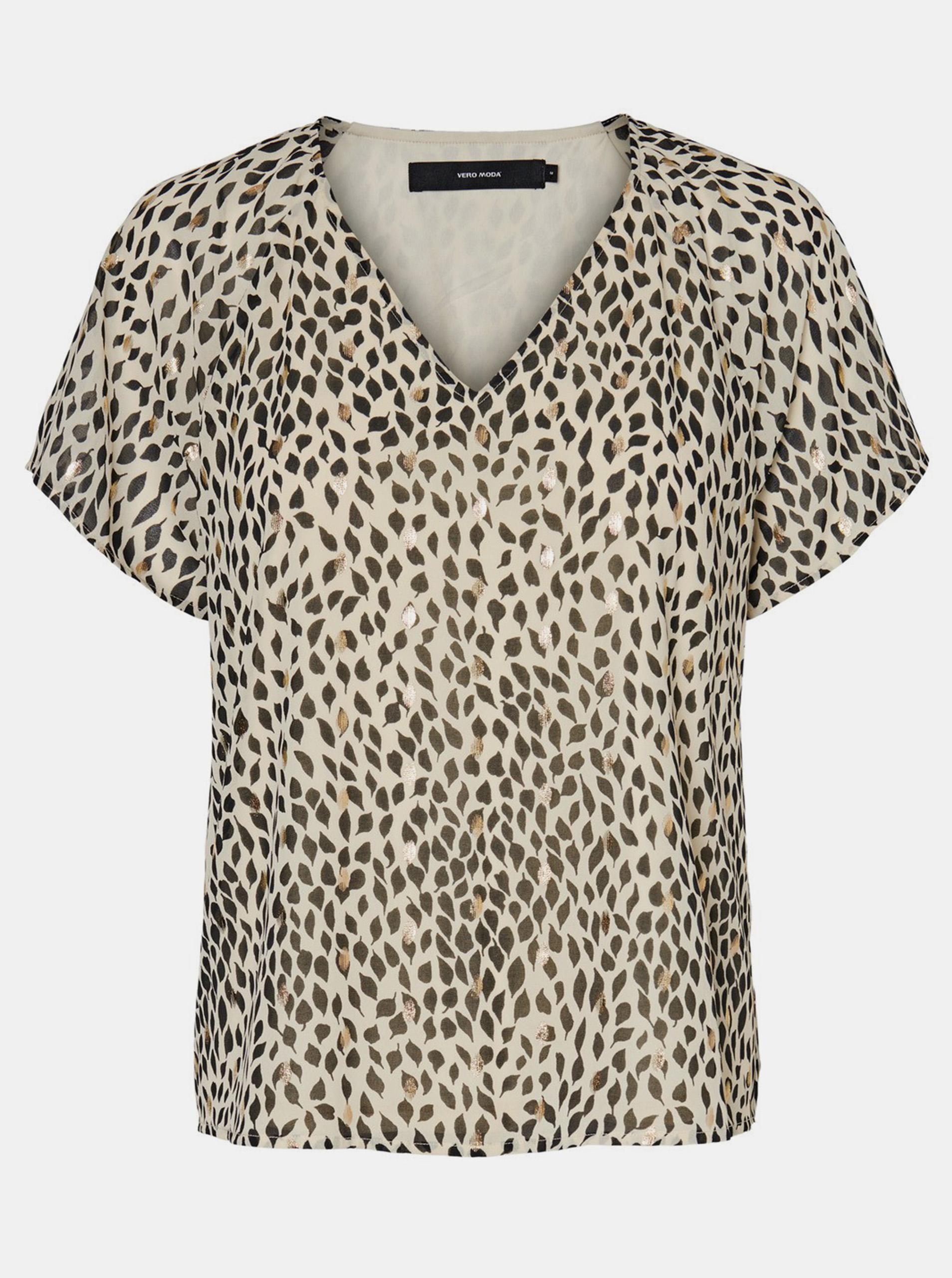Vero Moda béžové tričko Penny