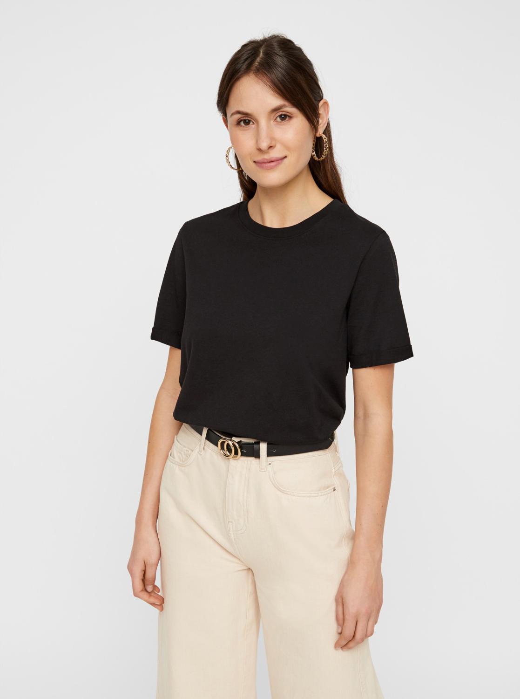Čierne basic tričko Pieces Ria
