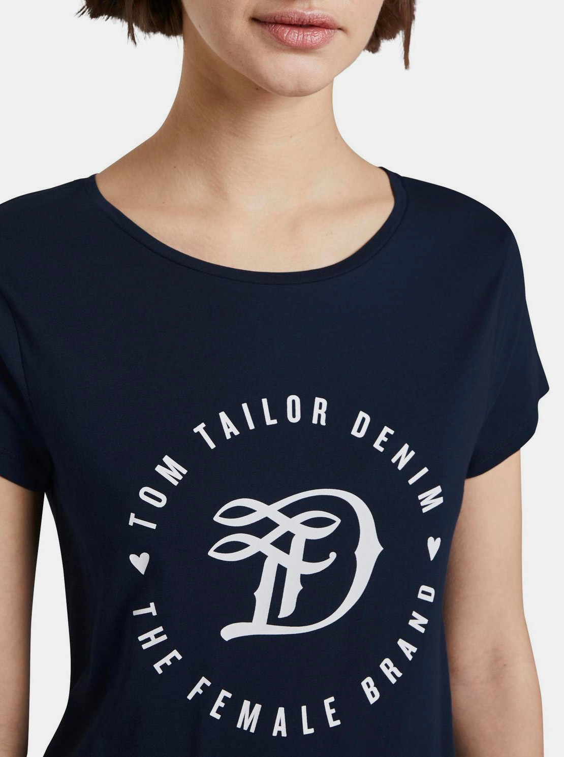 Tom Tailor Denim modré tričko s logom