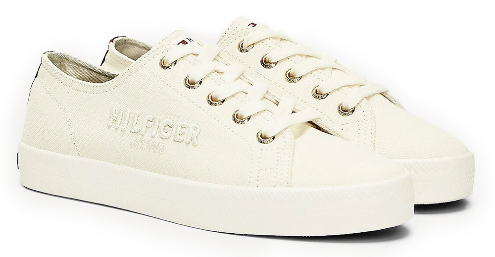 Tommy Hilfiger smotanové tenisky Logo Embroidery Low Top Trainers