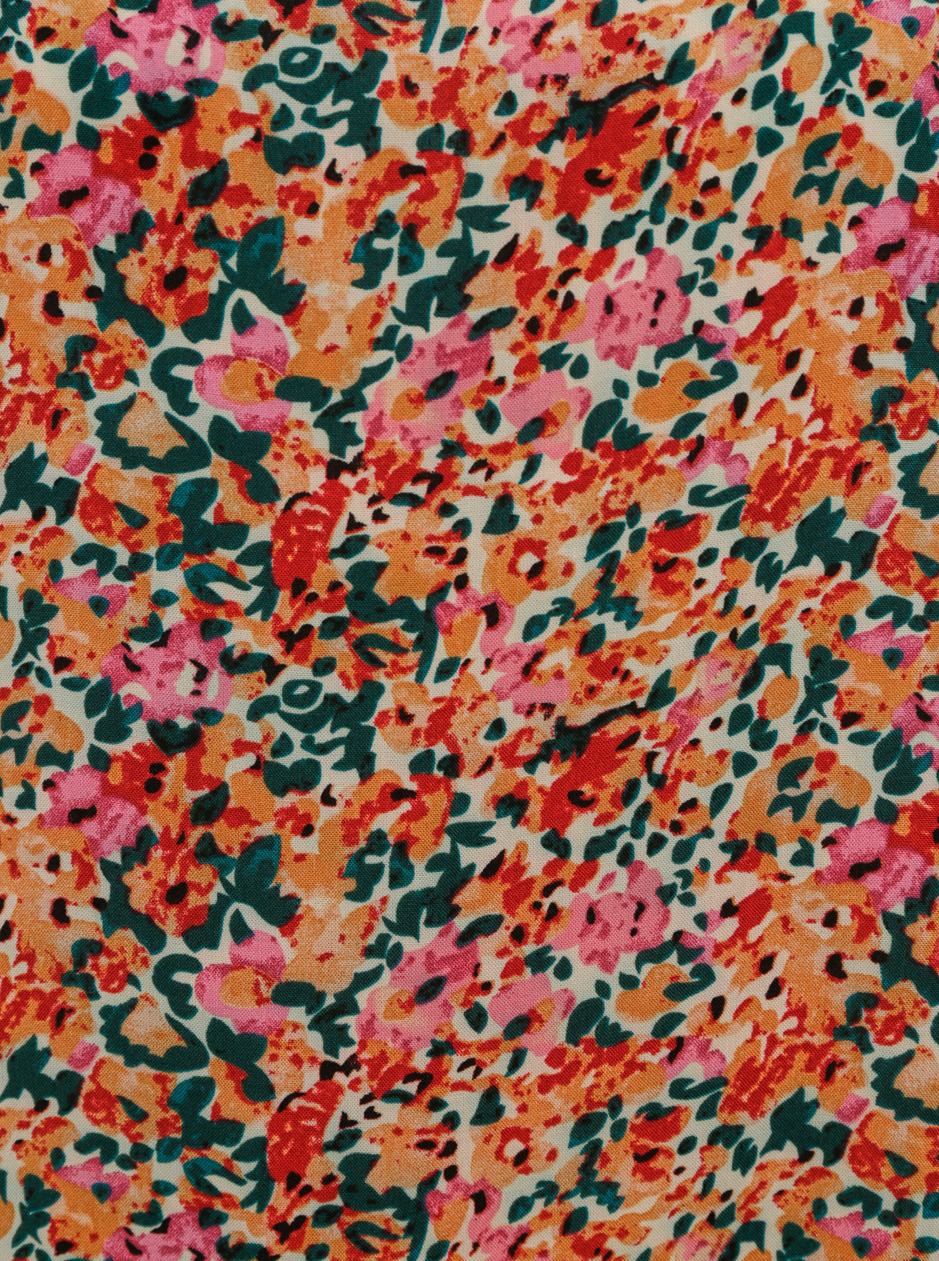 Ružovo-oranžová květovaná blúzka ONLY Nova
