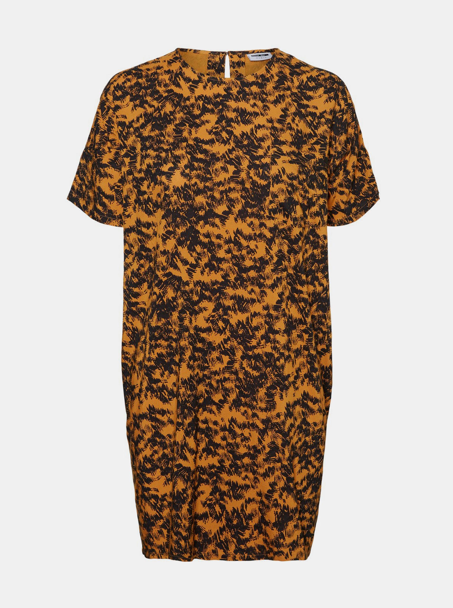Oranžové vzorované voľné šaty Noisy May Cille - M