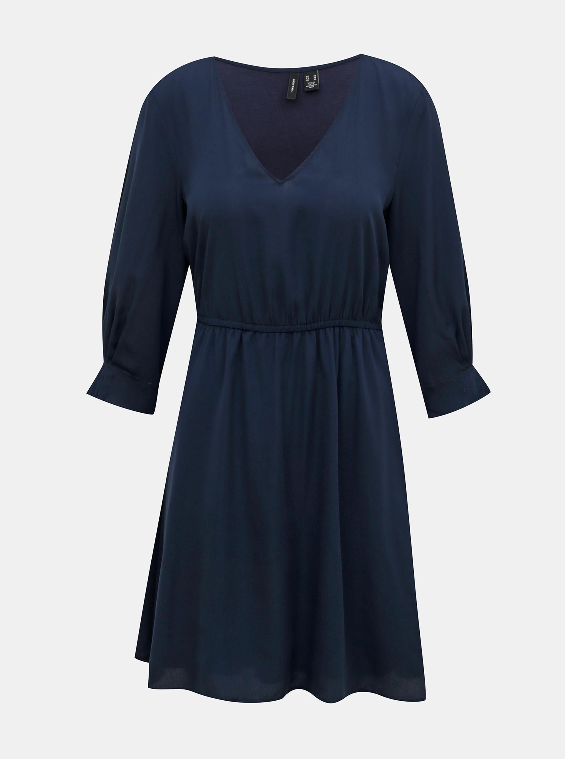 Tmavo modré šaty VERO MODA Vonnie - M