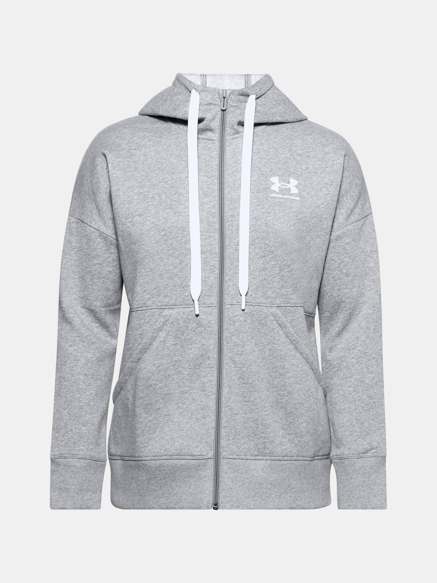 Mikina Under Armour Rival Fleece FZ Hoodie-GRY - XS