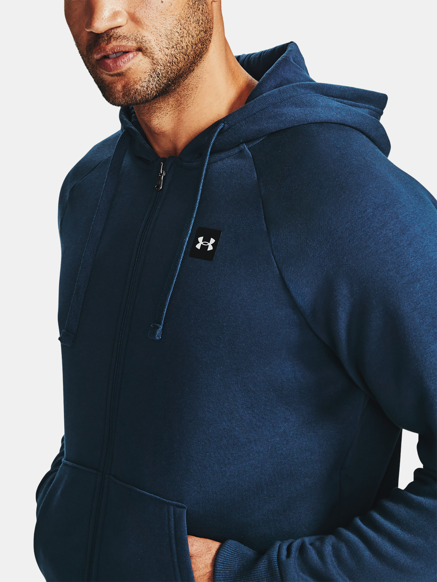 Mikina Under Armour UA Rival Fleece FZ Hoodie-NVY - M