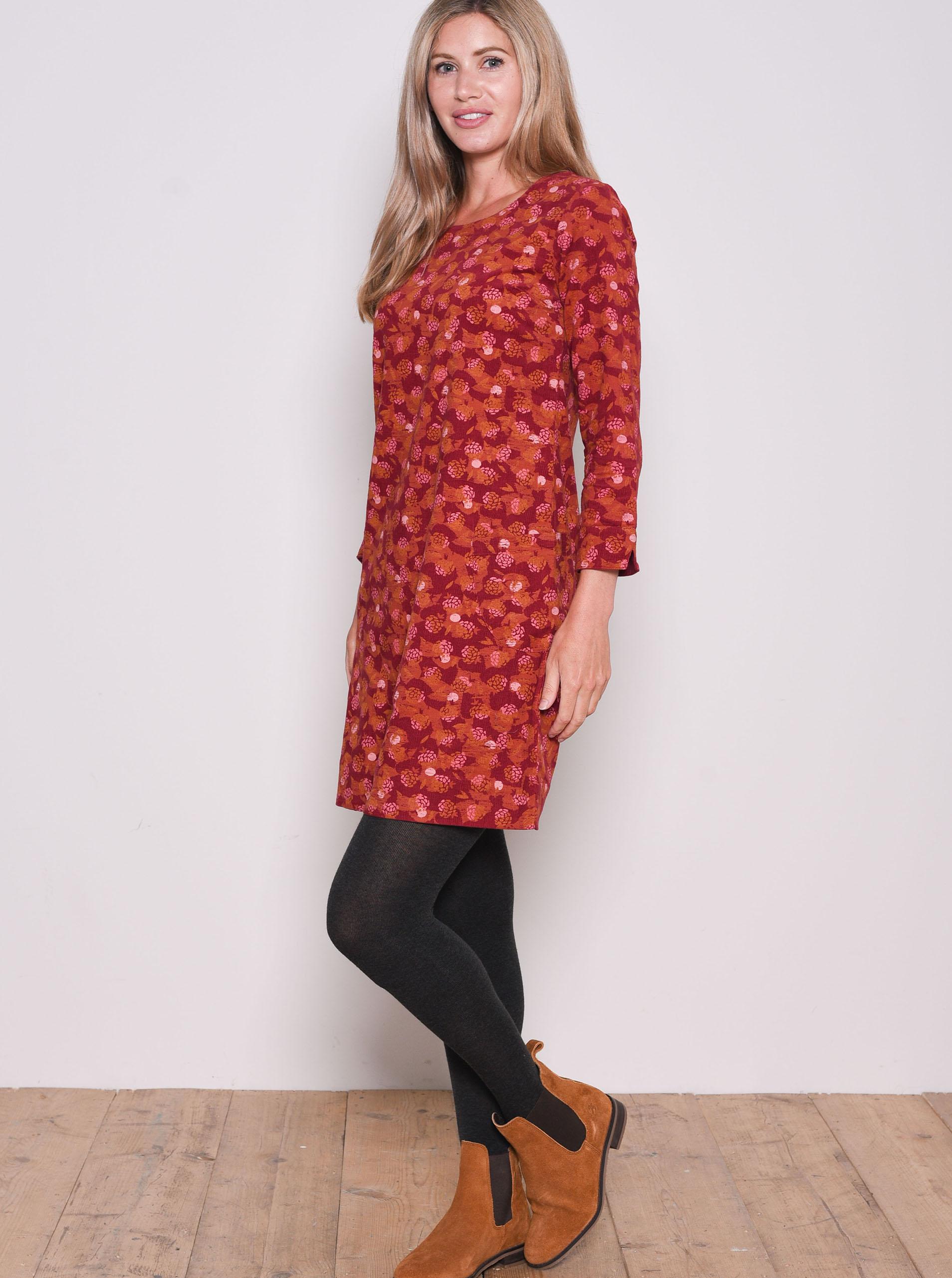 Červené vzorované šaty Brakeburn - M