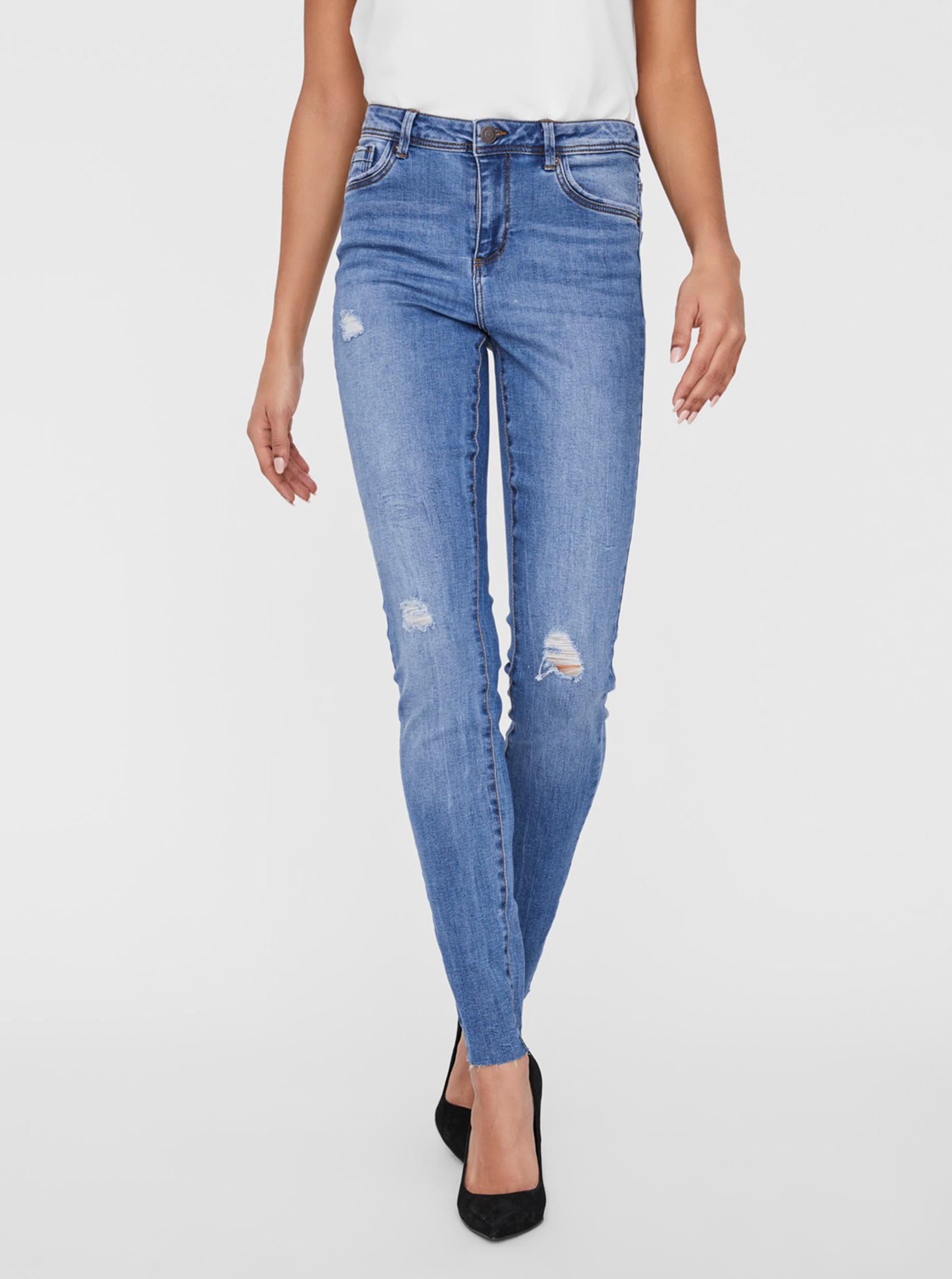 Modré skinny fit džínsy VERO MODA Tanya - S