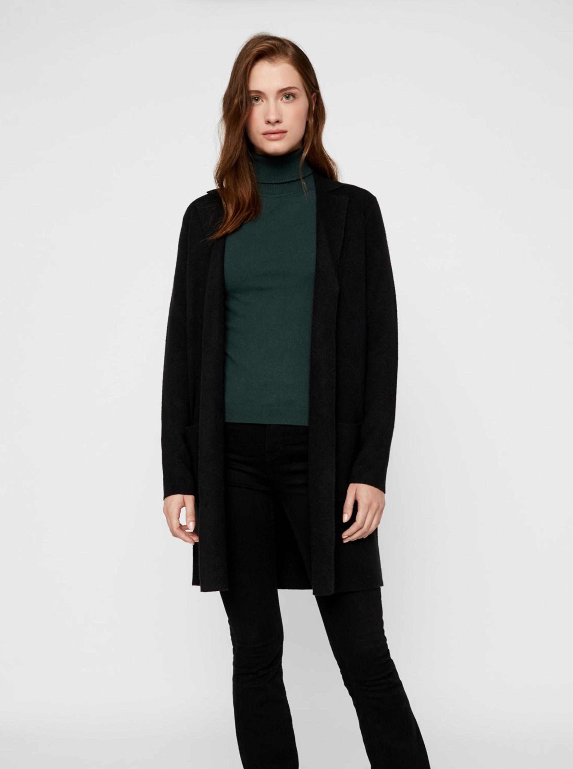 Čierny ľahký kabát VERO MODA - S