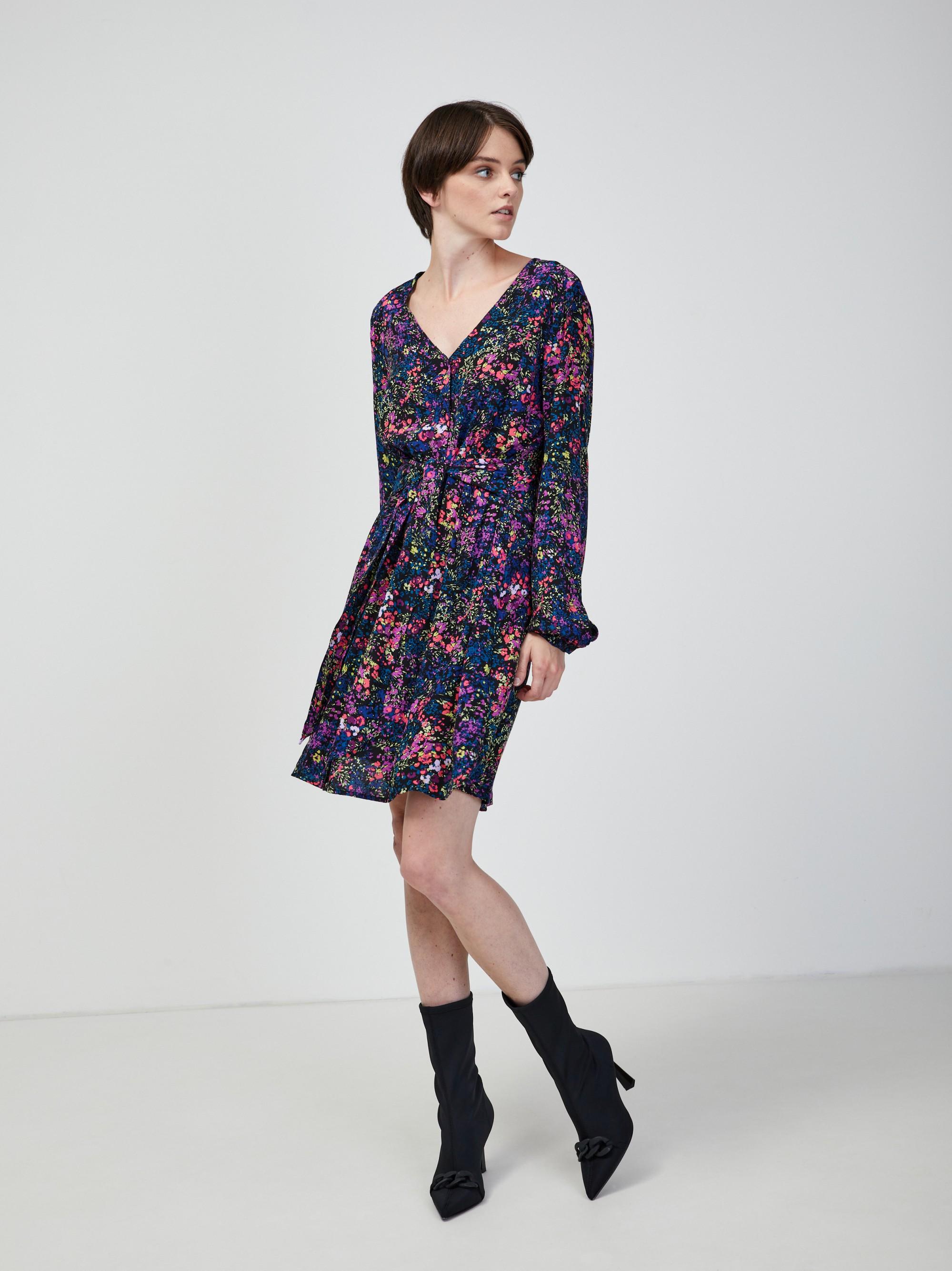 Modré kvetované šaty VERO MODA Wippa - M