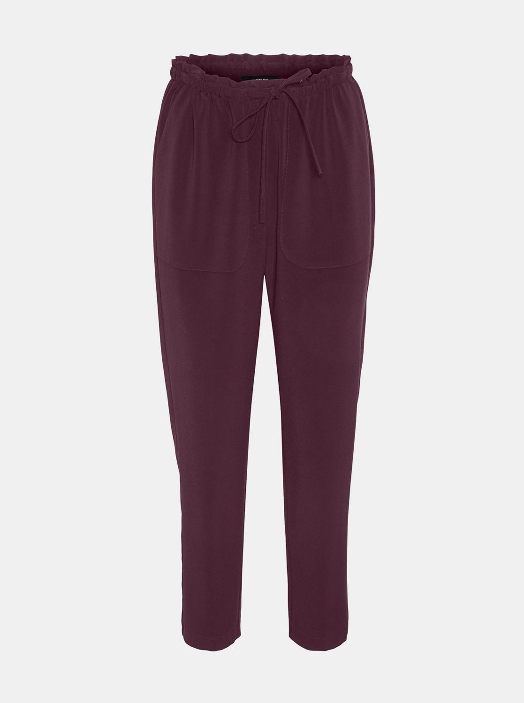 Vínové skrátené nohavice VERO MODA - XS
