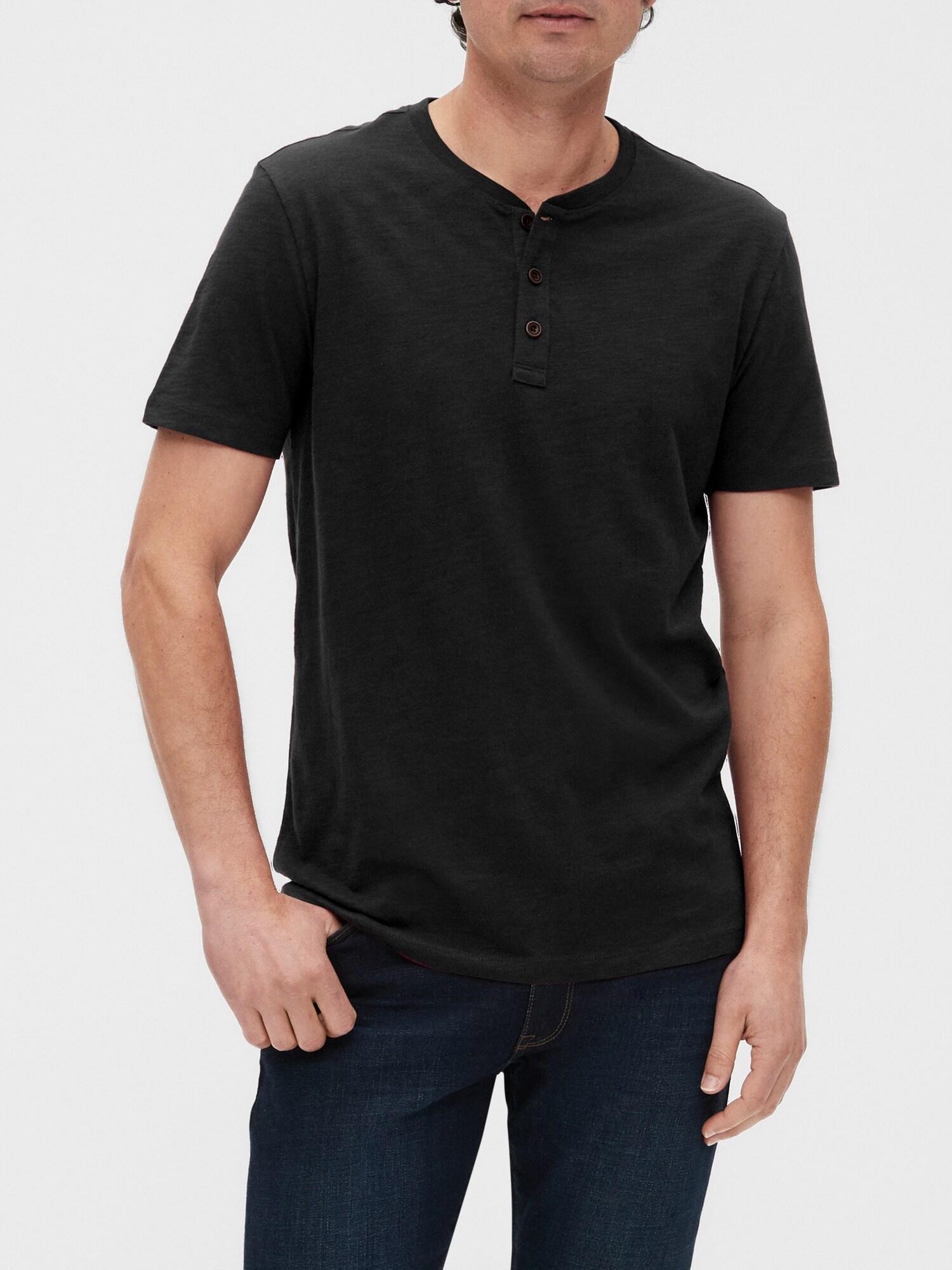 GAP čierne pánske tričko - M