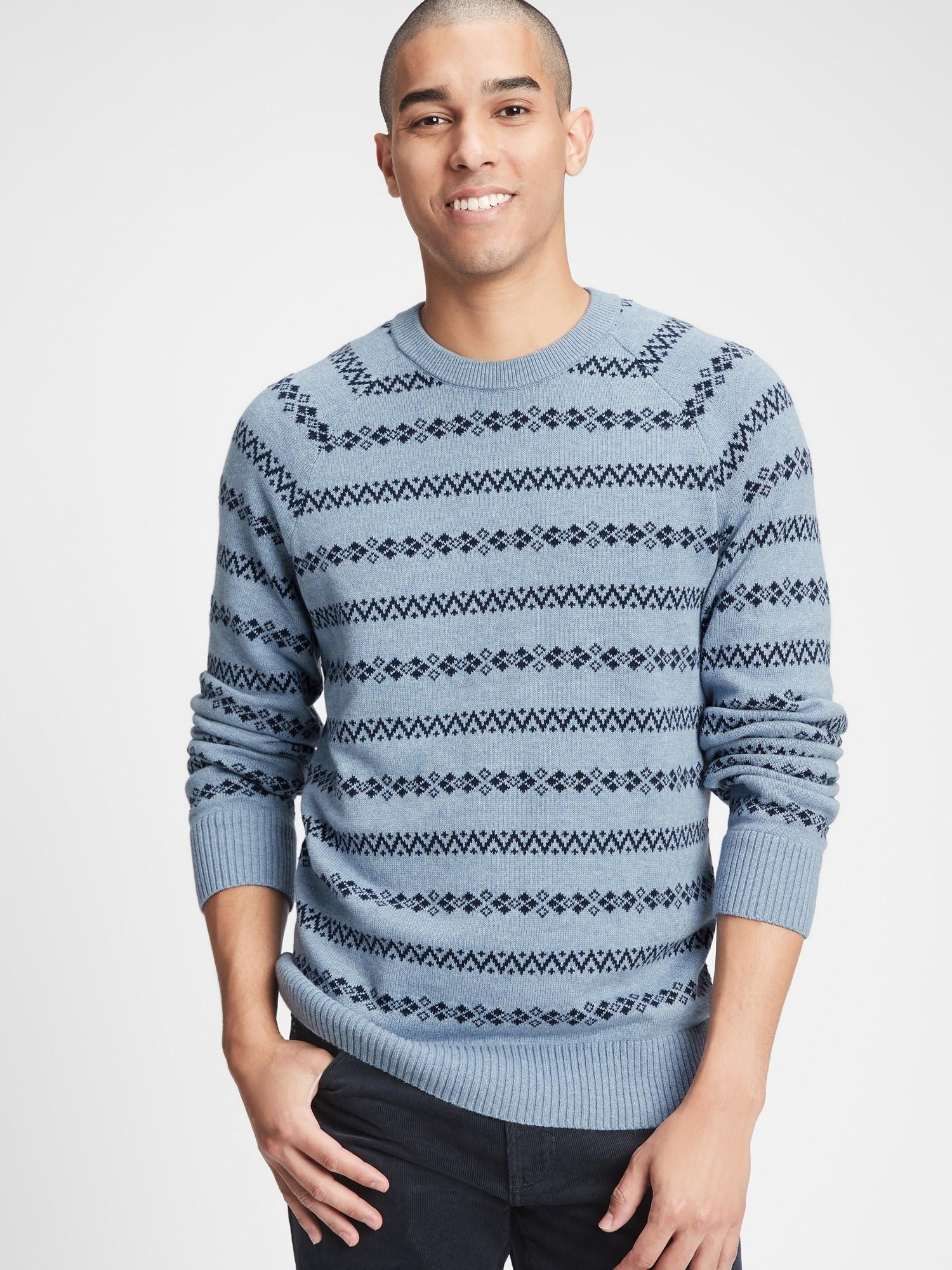 GAP modré pánsky sveter - L