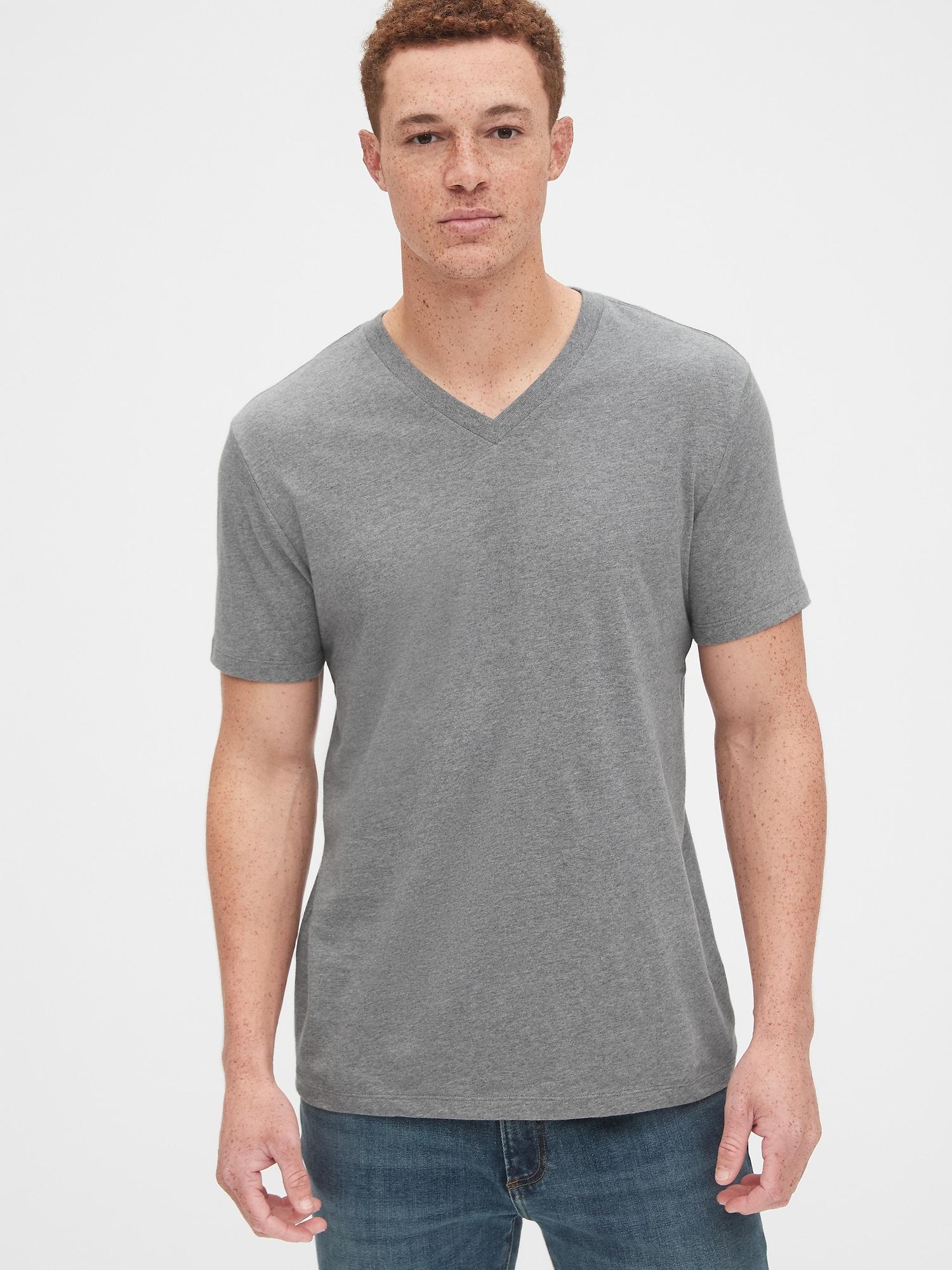 GAP sivé pánske tričko - M