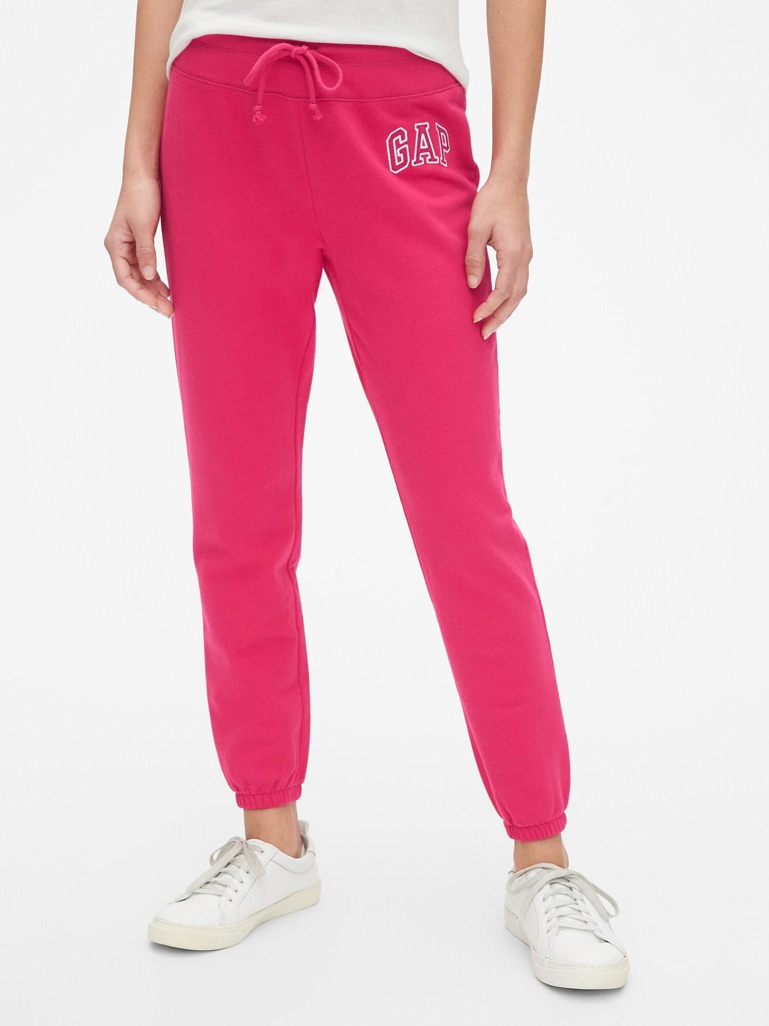 GAP ružové dámske tepláky s logom - XXL