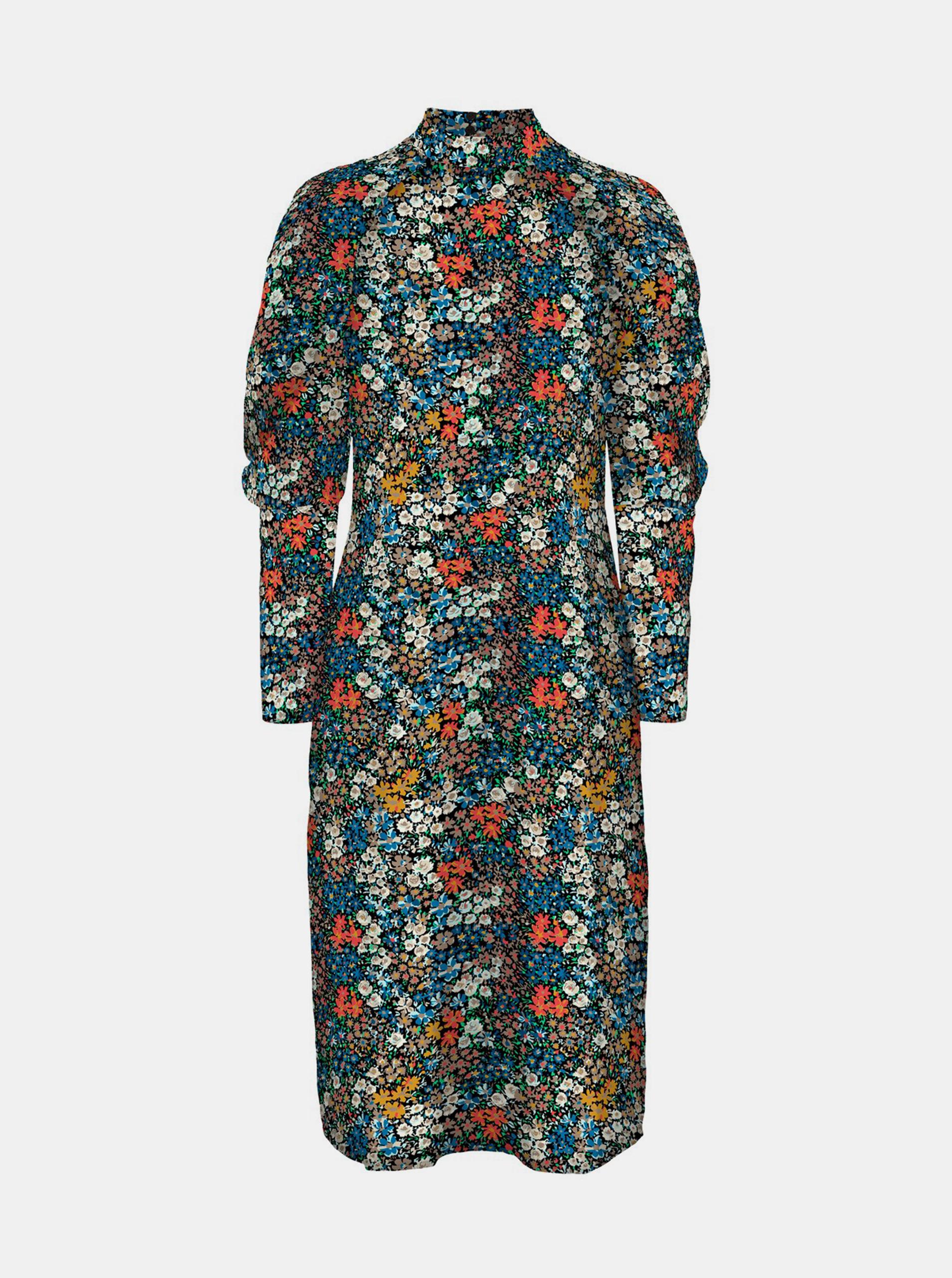 Vero Moda modré kvetované šaty Selma - M
