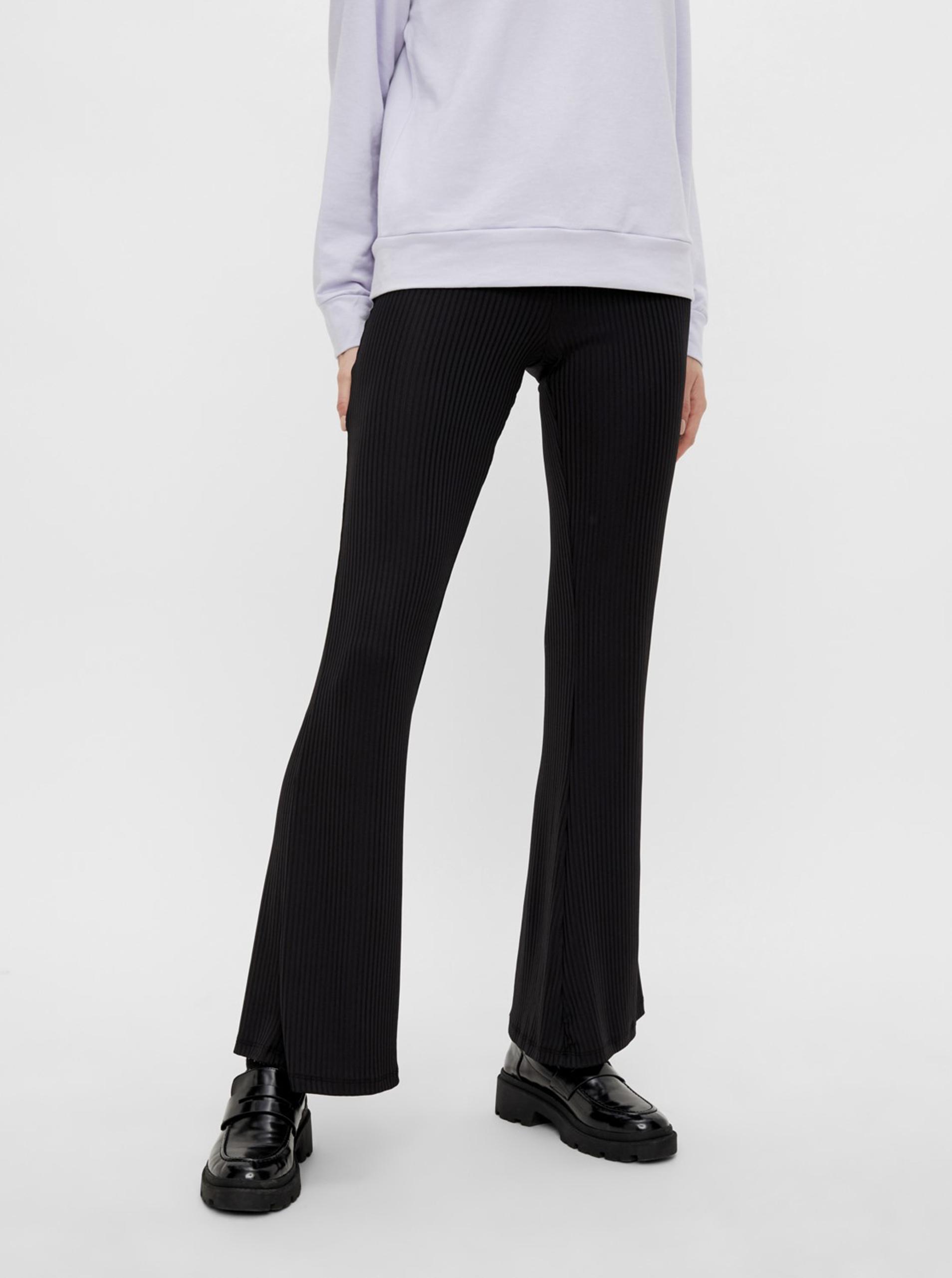 Pieces čierne nohavice Toppy - XL