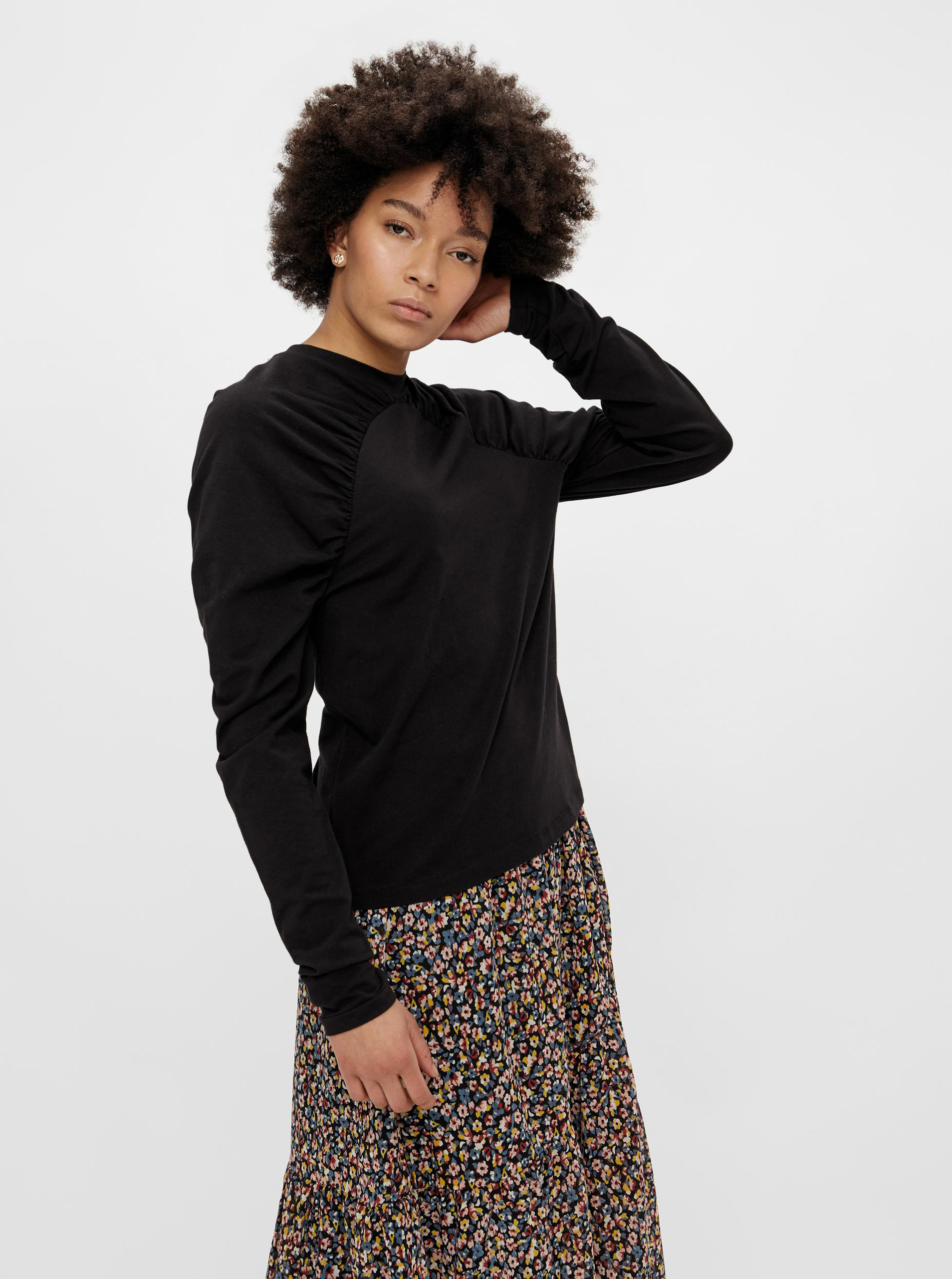 Pieces čierne dámske tričko - L