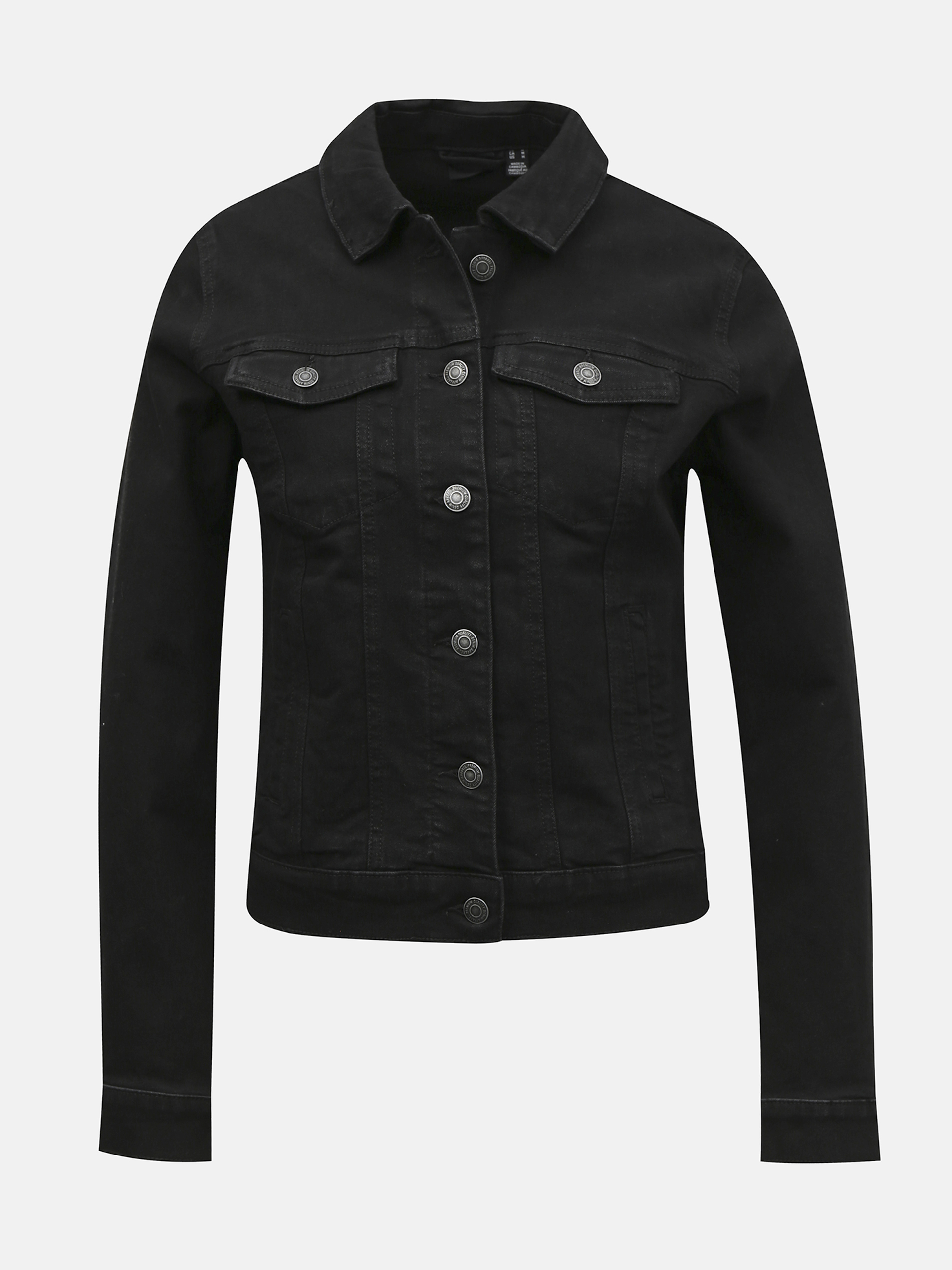 Vero Moda čierna džínsová bunda Hot Soya - M