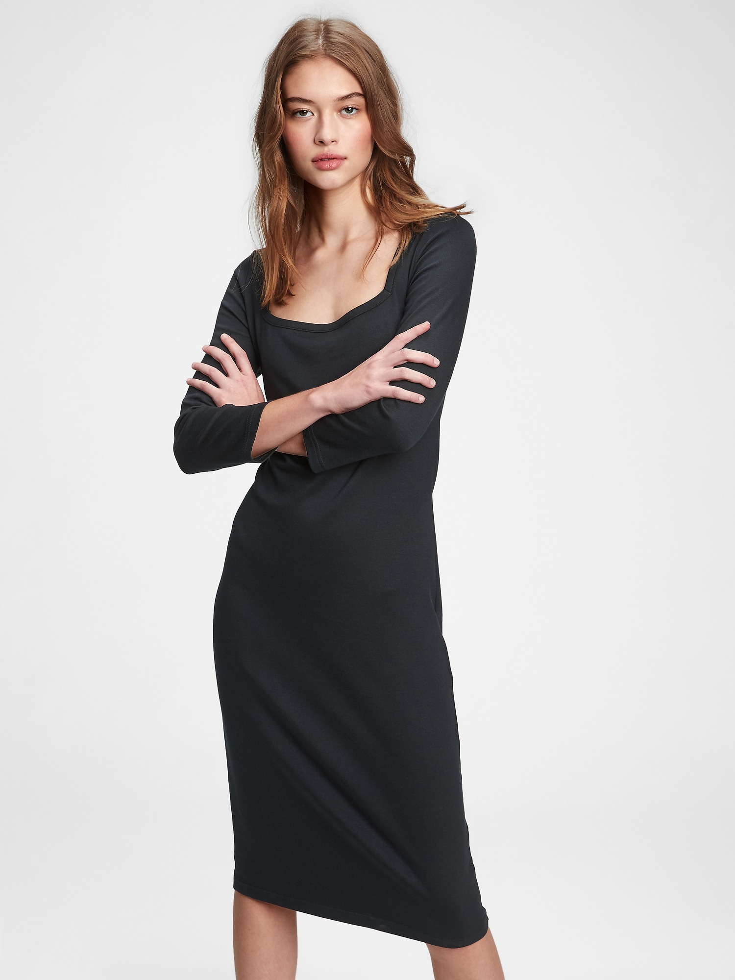 GAP čierne midi šaty - XS