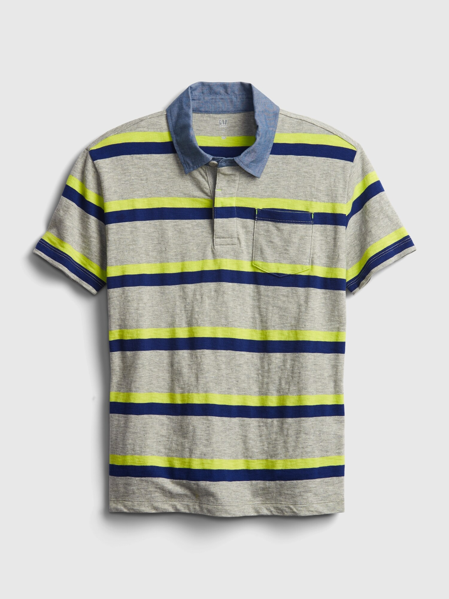 GAP farebné detské tričko chambray - XXL