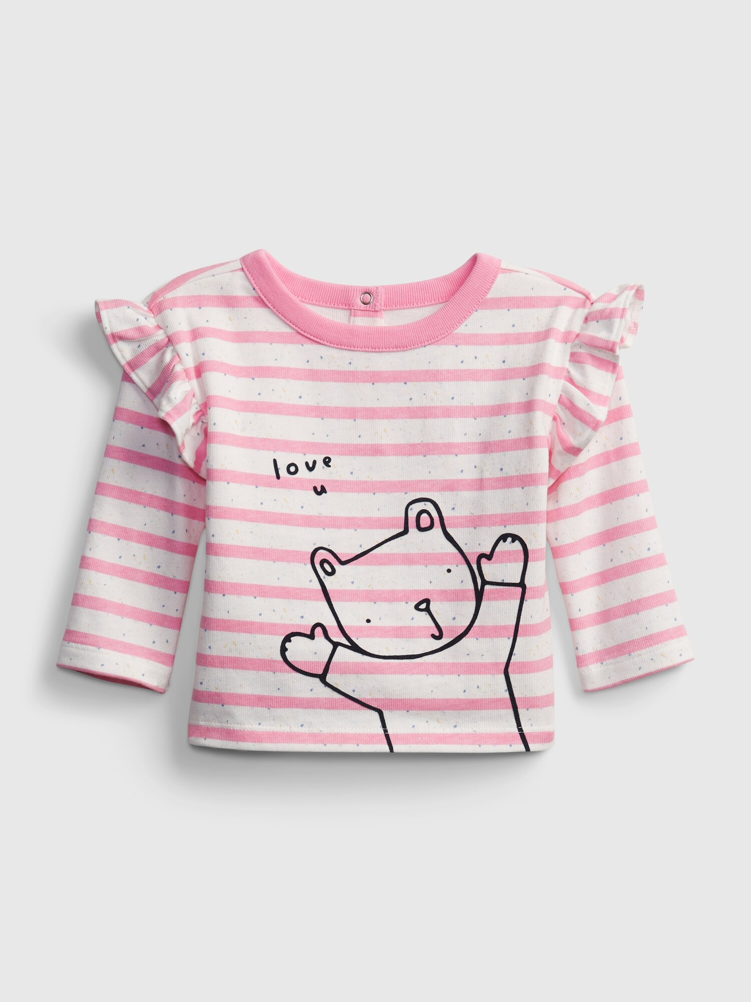 GAP ružové detské tričko Brannan Knit - 18-24M