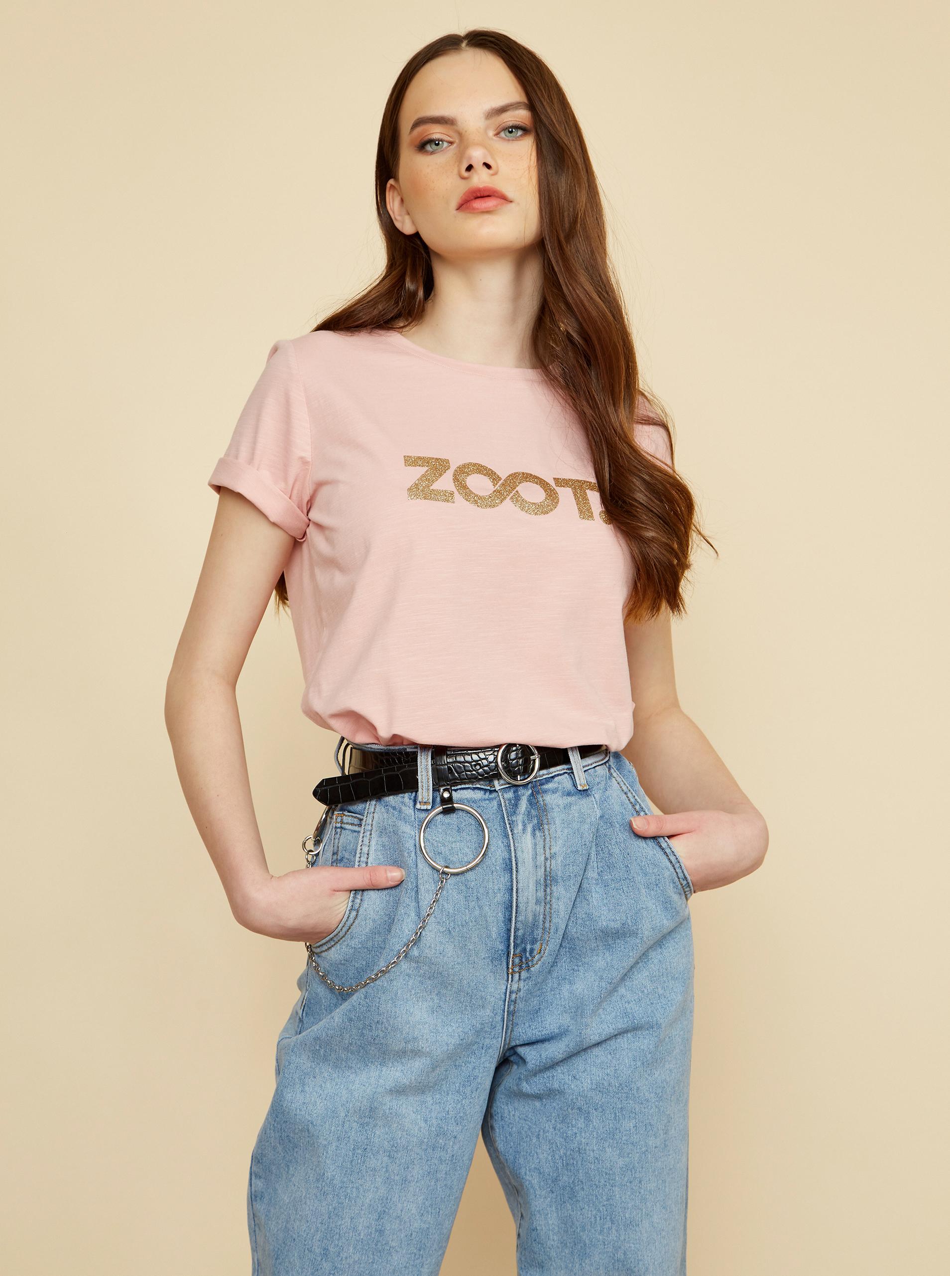 ZOOT ružové dámske tričko Lucy s potlačou - XL