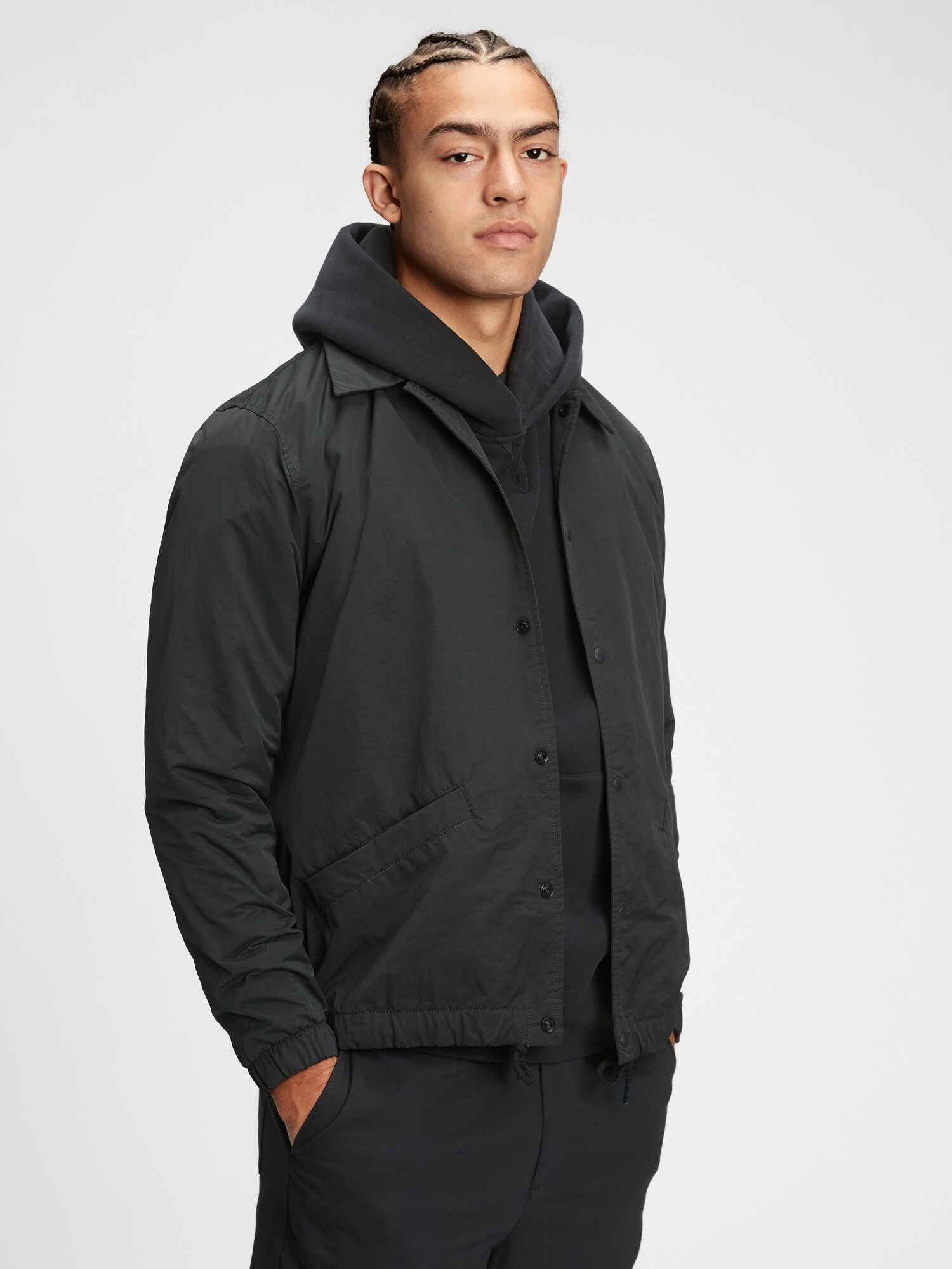 GAP čierne pánska bunda - XL