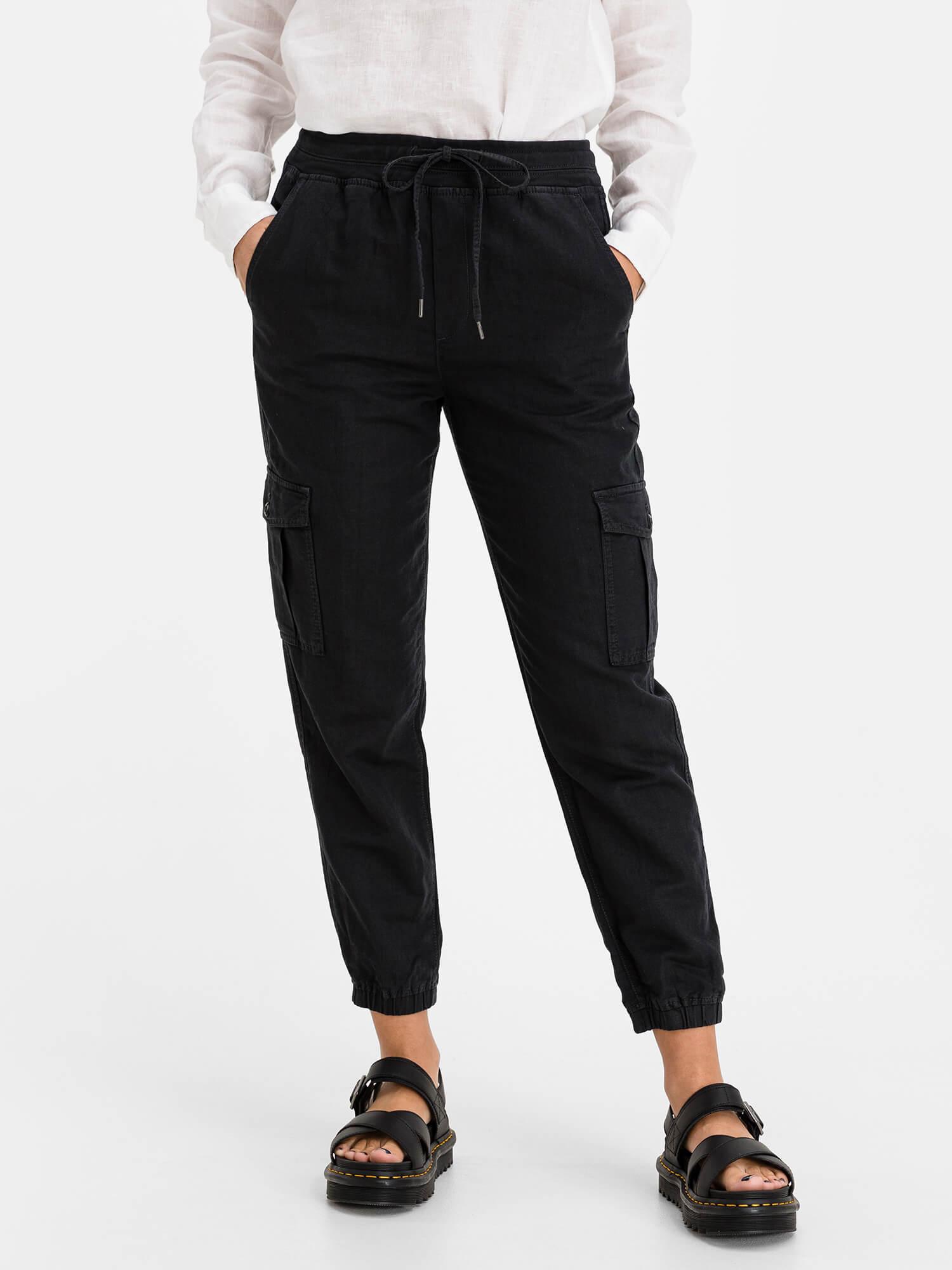 GAP čierne nohavice s kapsami - XL