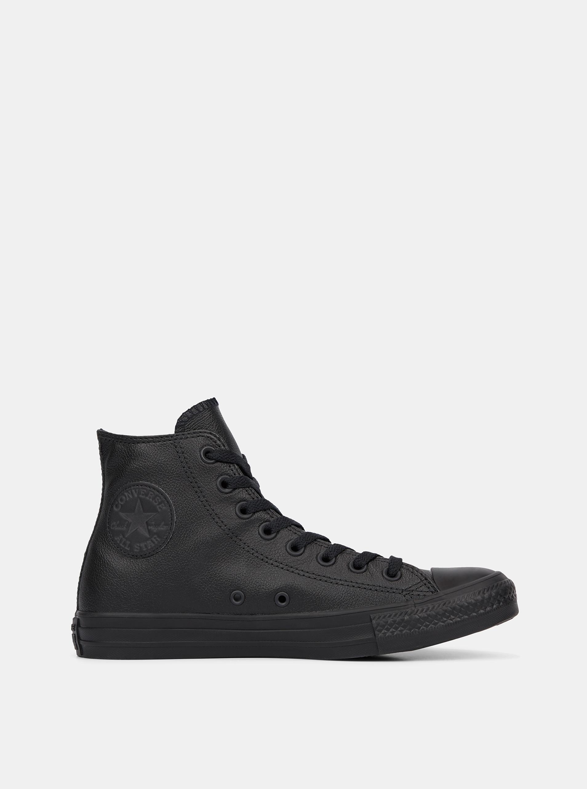 Čierne kožené členkové tenisky Converse - 44